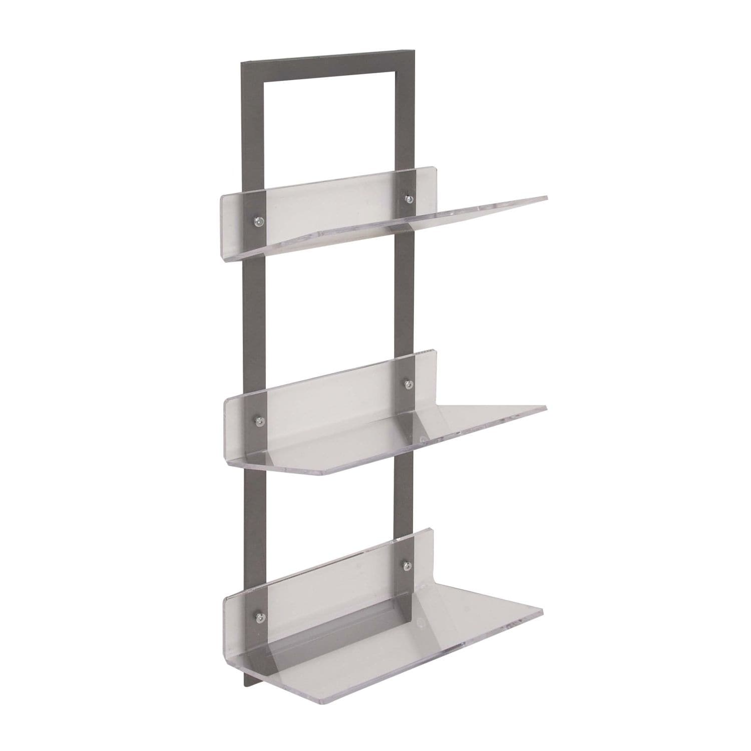 Contemporary 32 X 12 Inch Metal And Acrylic Wall Shelf By Studio 350 Free Shipping Today 17616594