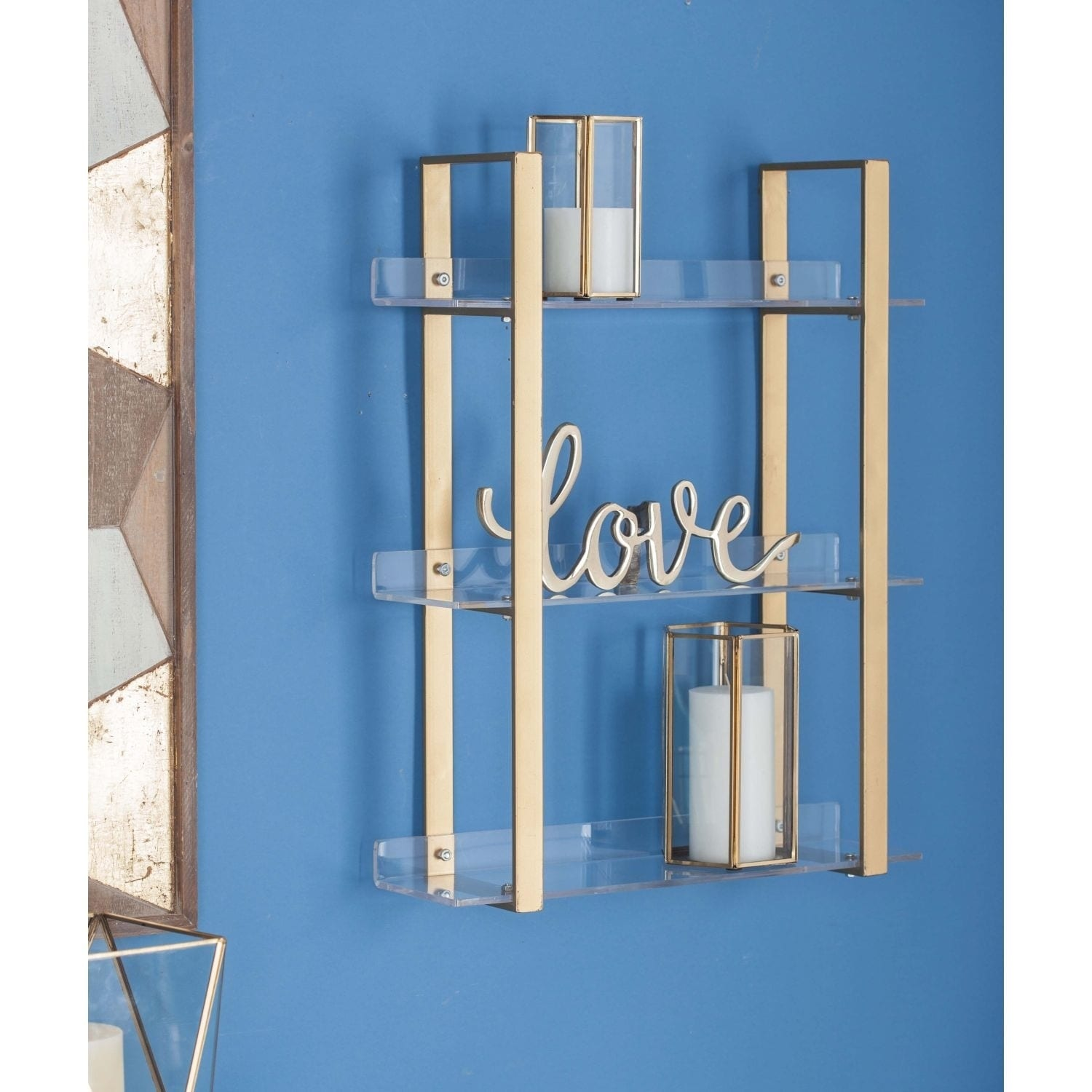 Shop Studio 350 Metal Acrylic Shelf 19 inches wide, 25 inches high ...