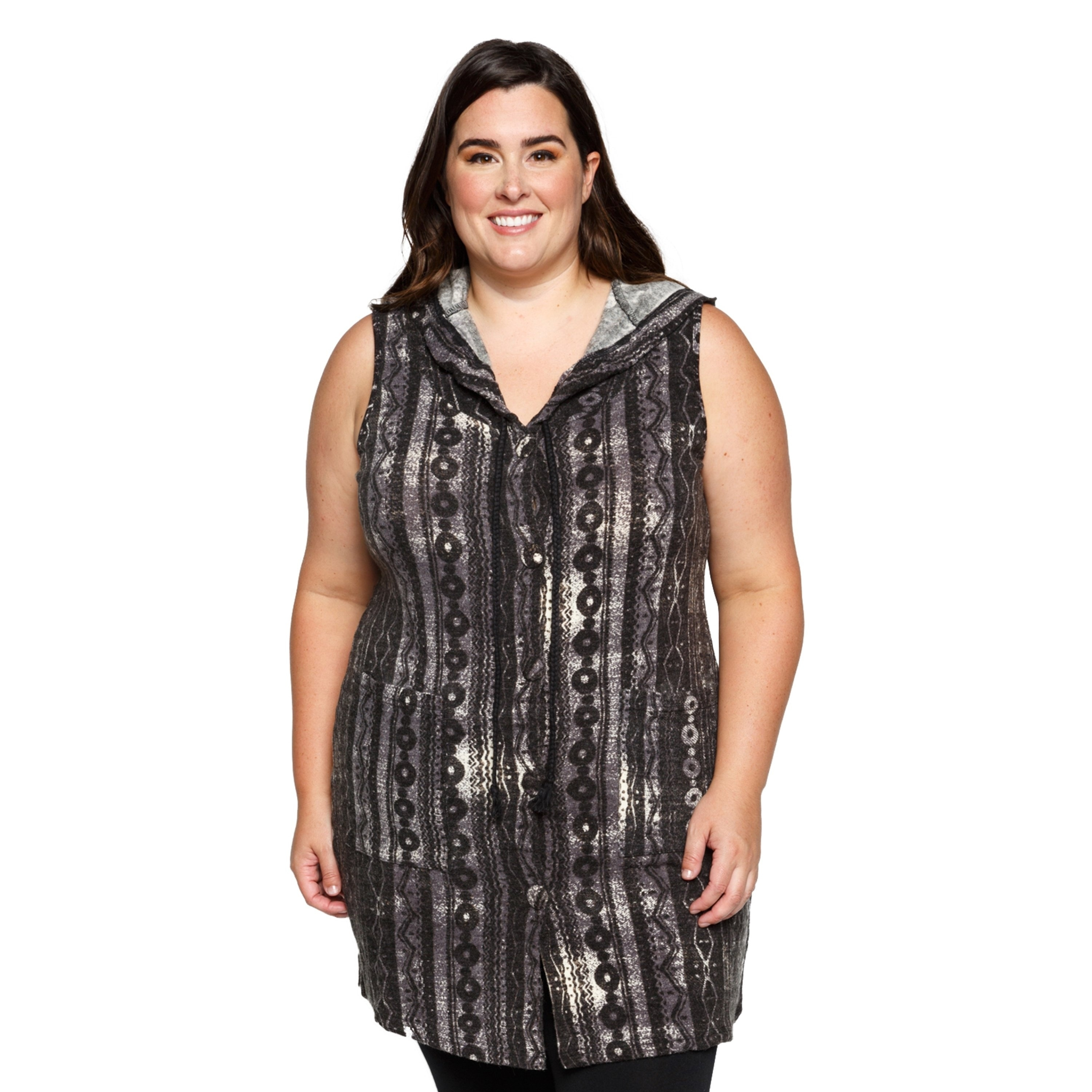 efd86031e074cd Shop Xehar Womens Plus Size Sleeveless Hooded Boho Cardigan Sweater Vests -  Free Shipping On Orders Over  45 - Overstock.com - 17619444