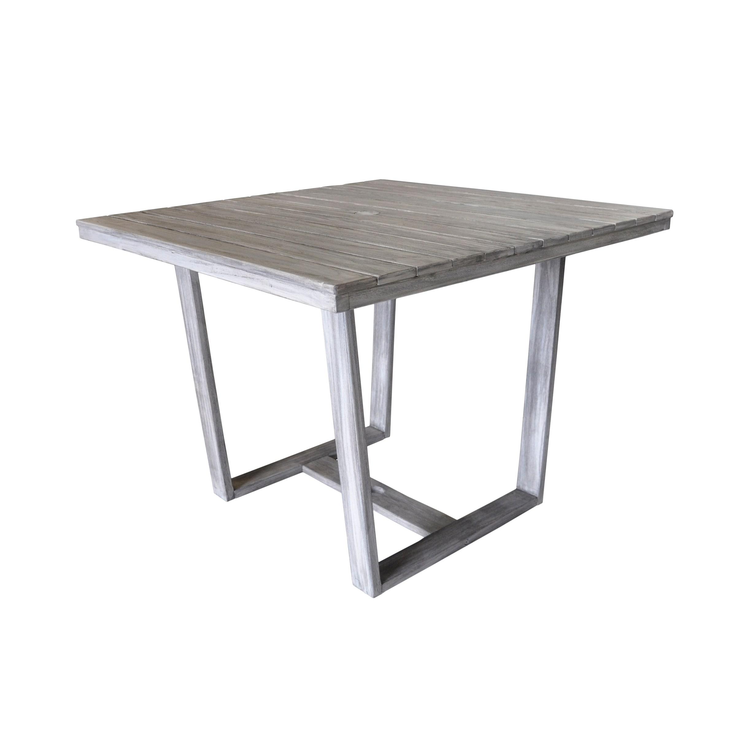 Havenside Home Surfside Grey Teak Outdoor Square Dining Table
