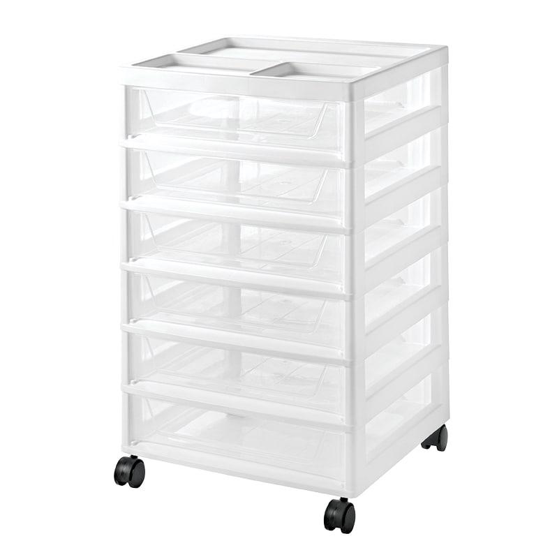 Shop Iris 6 Drawer Scrapbook Cart White Free Shipping On Orders