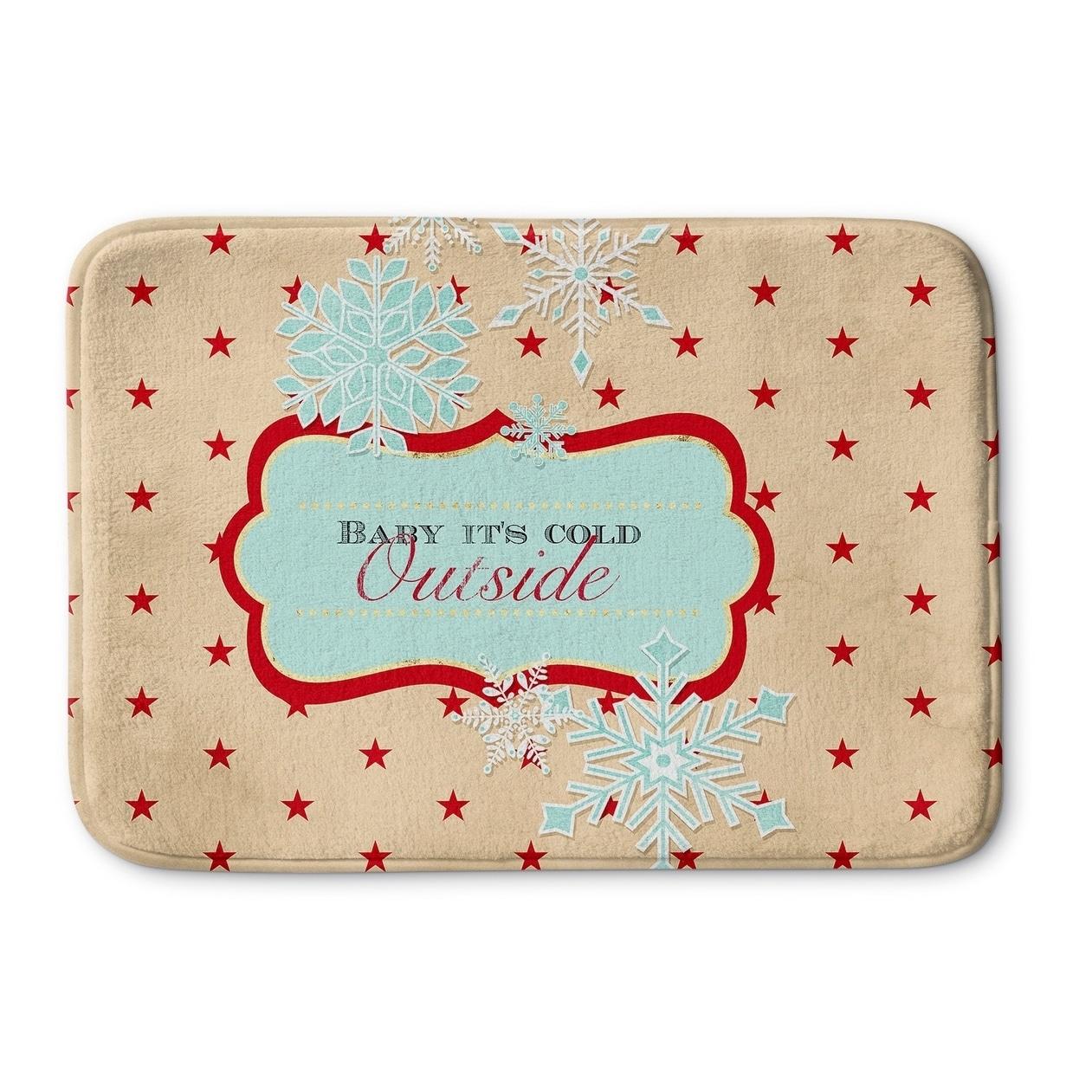 Kavka Designs Red/Peach/Blue Baby It\'s Cold Outside Memory Foam Bath ...