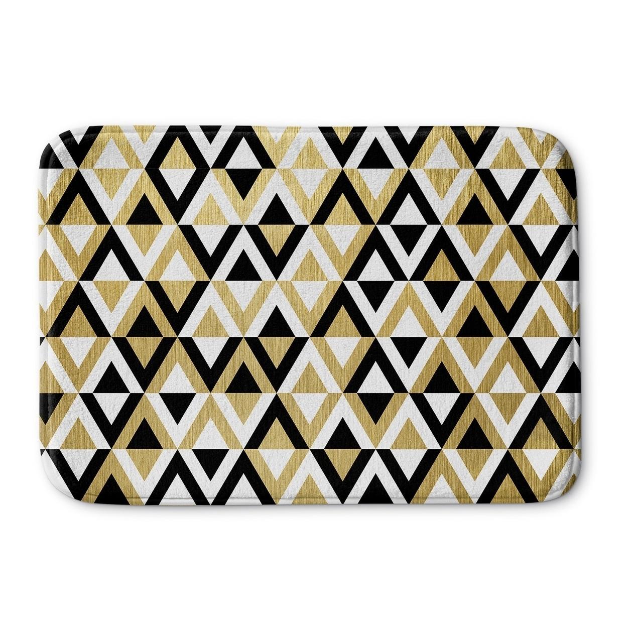 pinzon black luxury and kitchen amazon white banded mat cotton com bath home dp mats