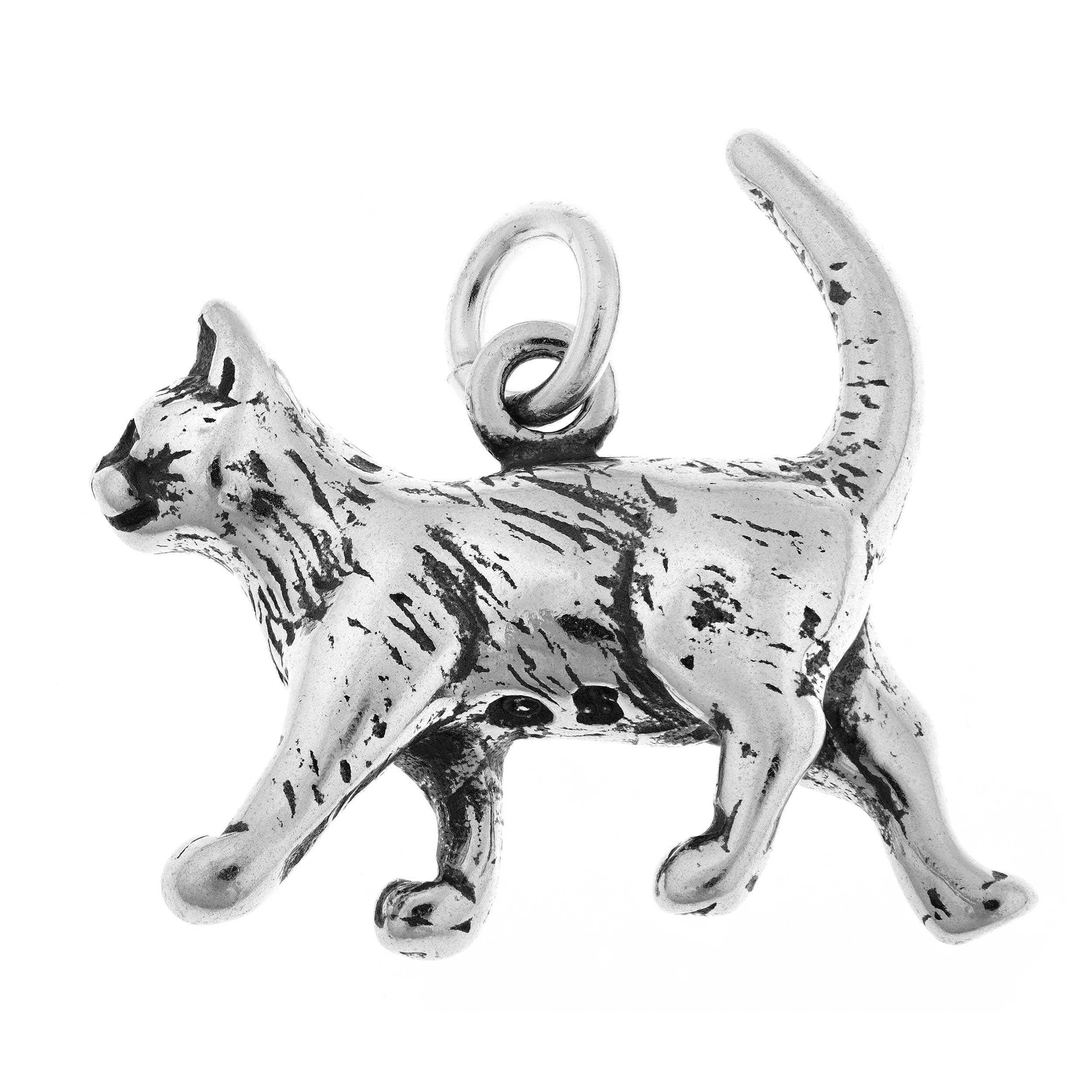 Sterling Silver Cat Charm On Free Shipping Orders Over 45 17626068