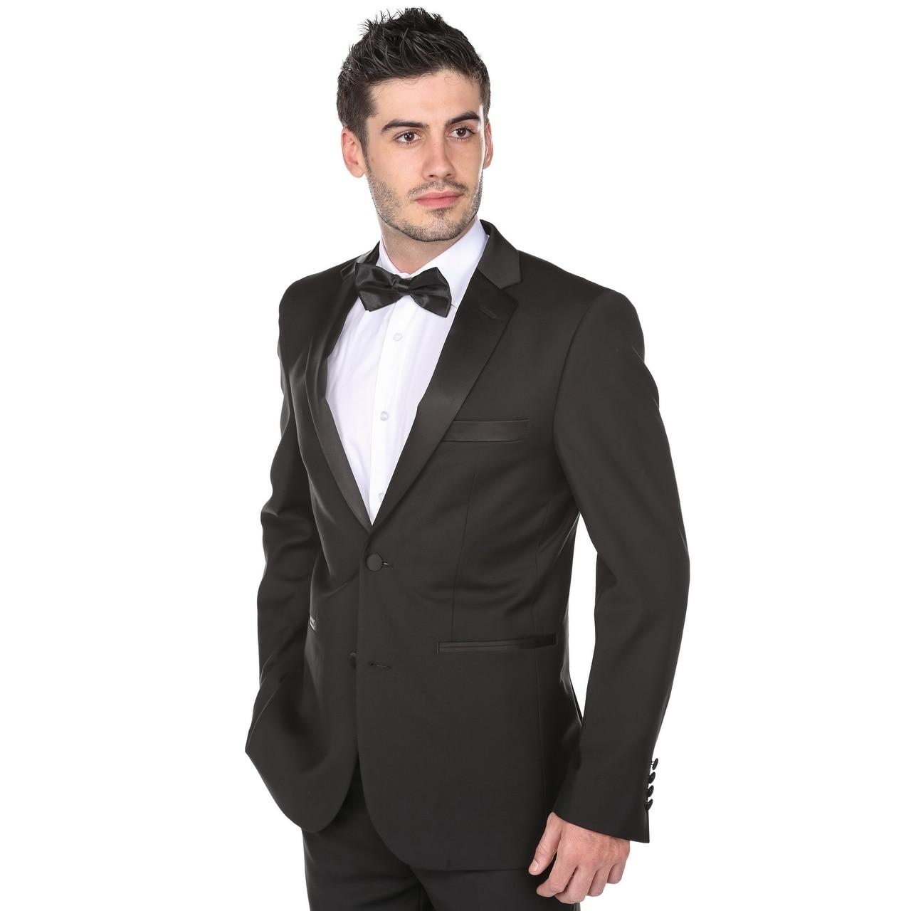 Gino Vitale Men S Clic Fit Notch Lapel Tuxedo On Free Shipping Today 17626510