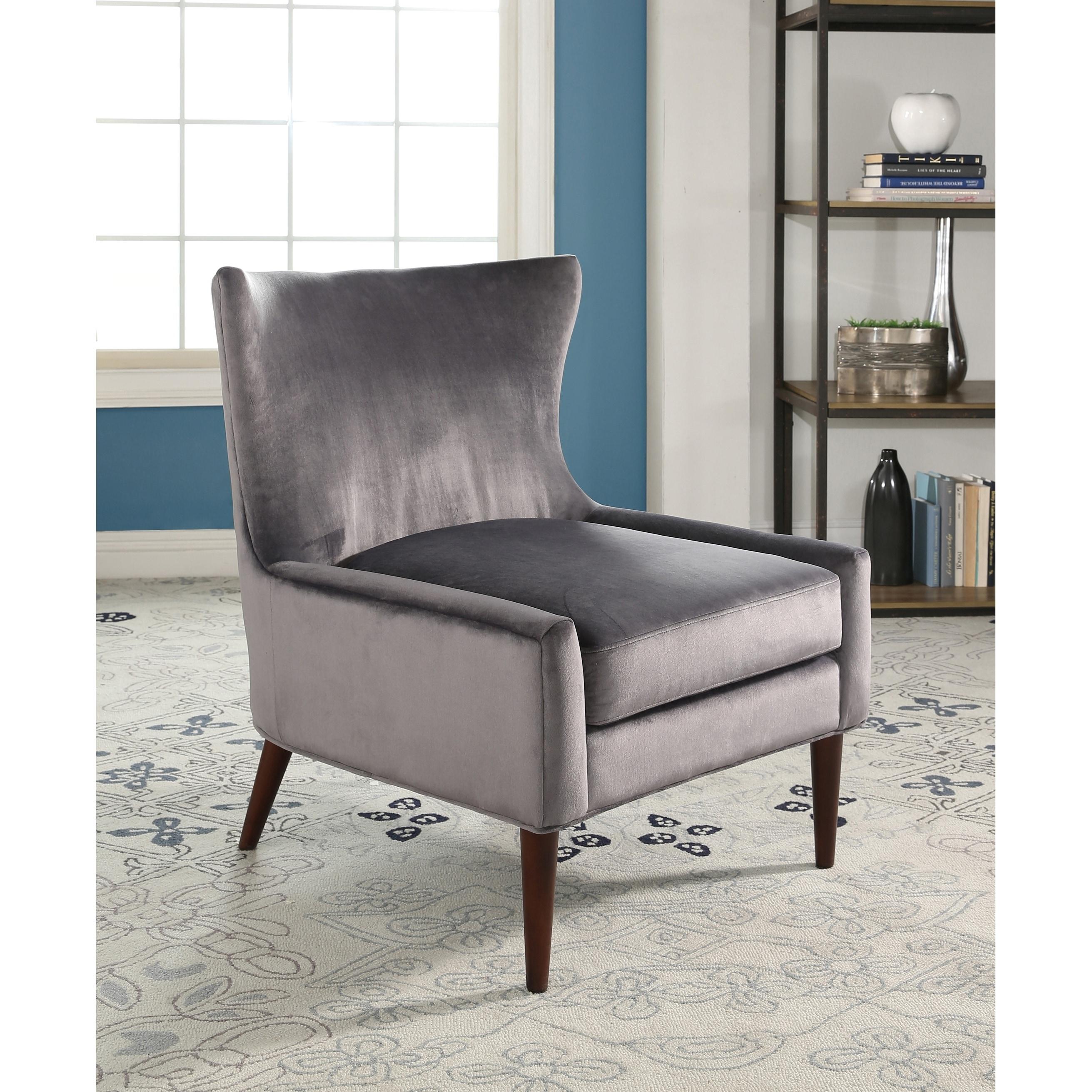 Abbyson Auburn Velvet Wingback Chair On Free Shipping Today 17627563
