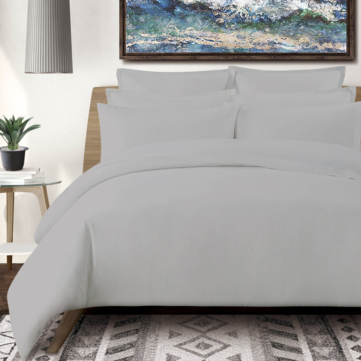 Washed Linen Cotton Blend Sheet Set Free Shipping Today 17629641