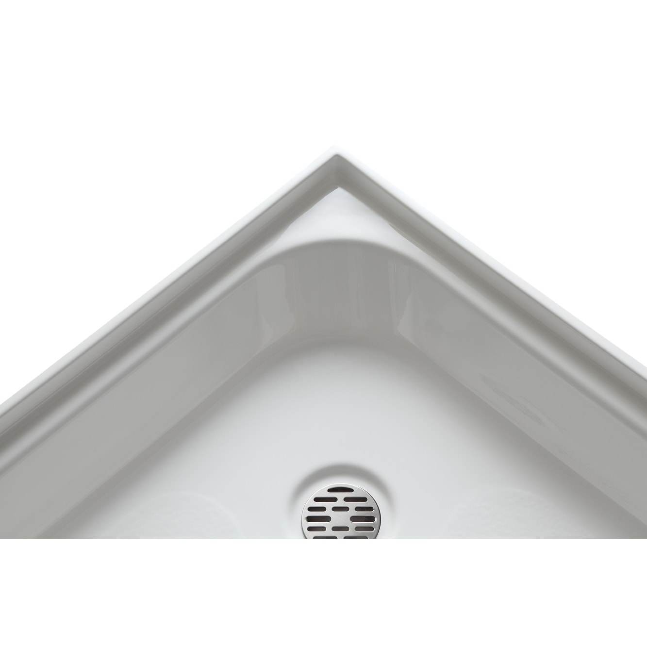Neo Round Double Threshold Shower Base In White   Free Shipping Today    Overstock.com   17630064