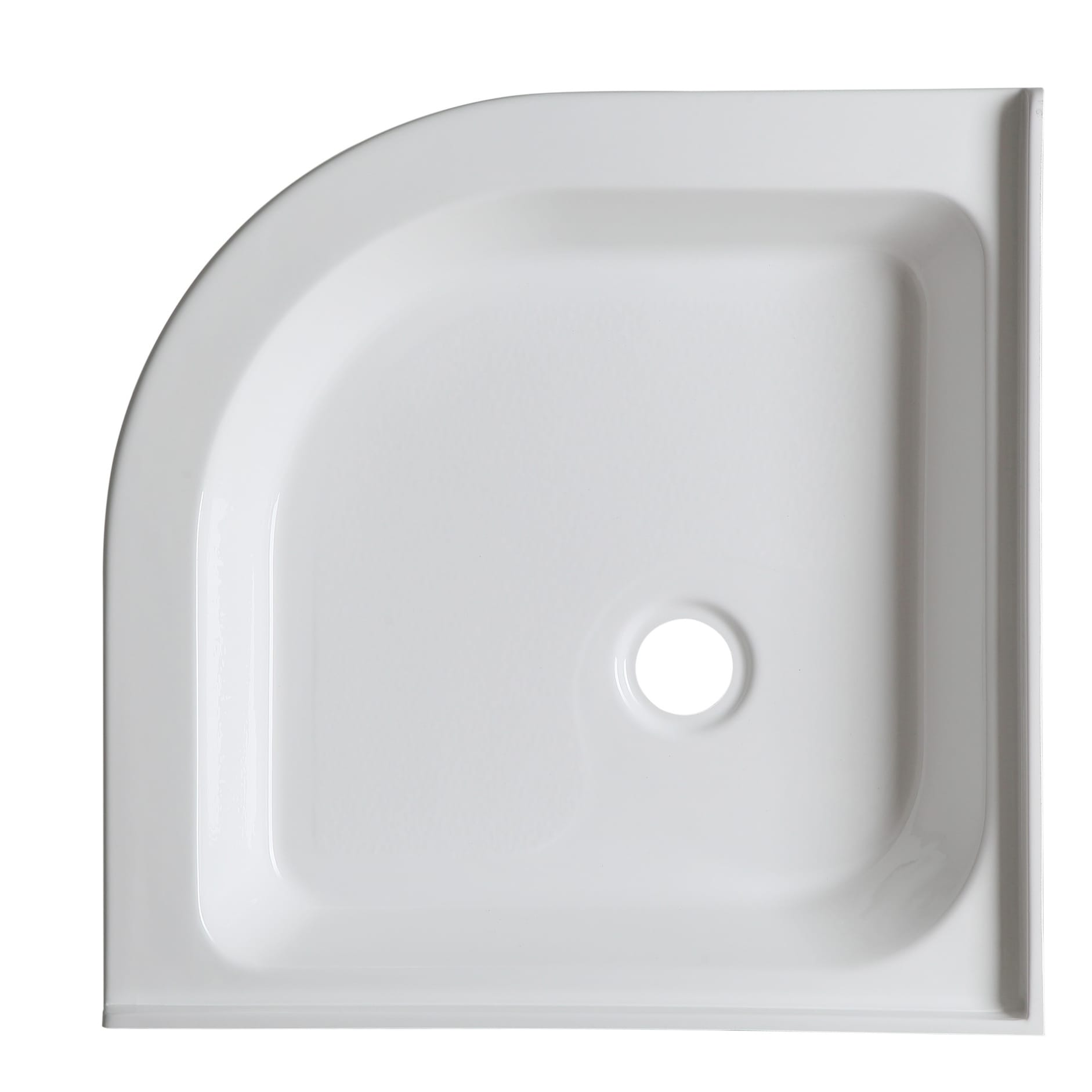 Superieur Neo Round Double Threshold Shower Base In White   Free Shipping Today    Overstock.com   17630064