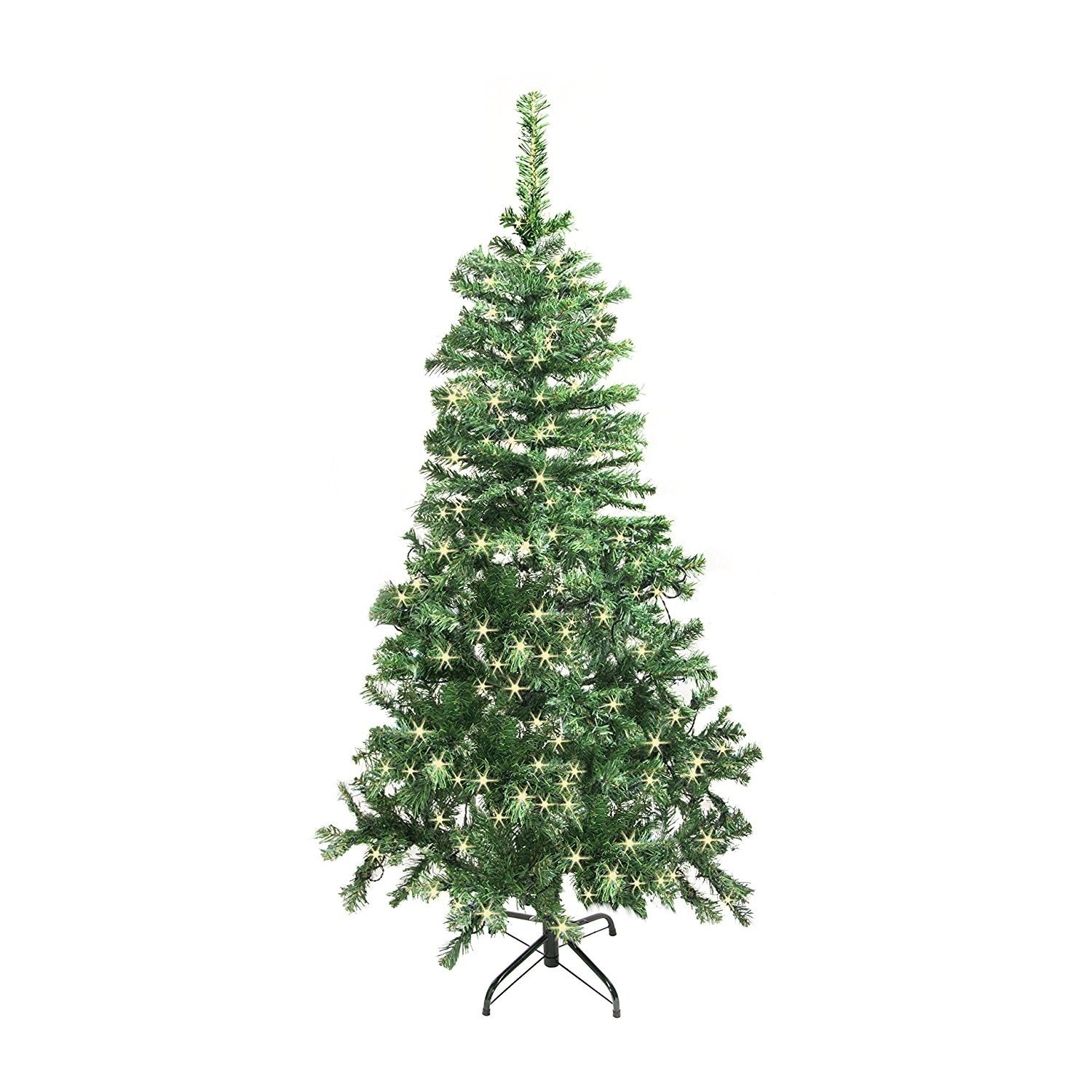 Shop ALEKO Artificial 5\' Indoor Christmas Holiday Tree With White ...