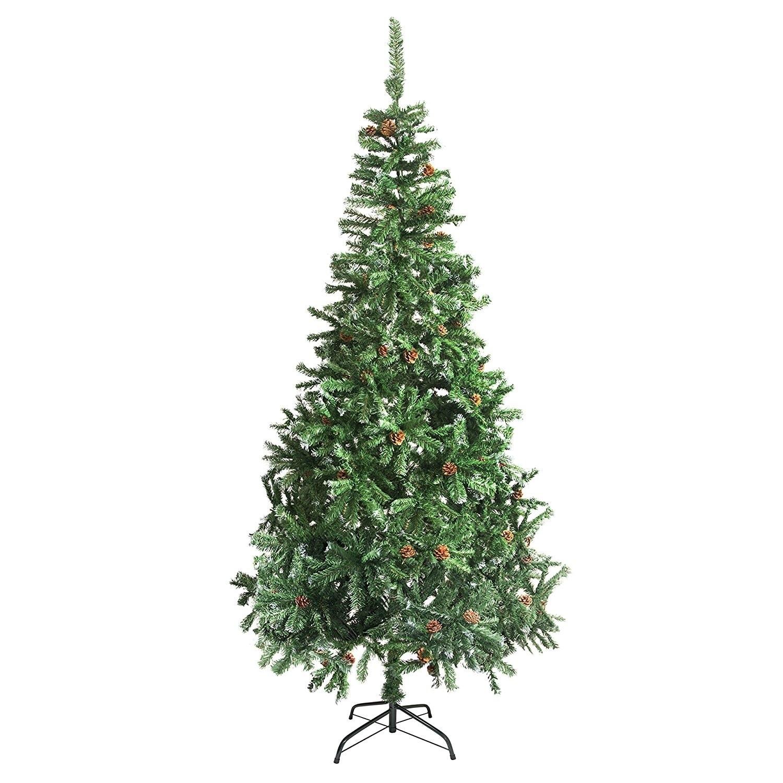 Shop ALEKO Indoor Artificial 9 Feet Christmas Tree Holiday Pine Tree ...