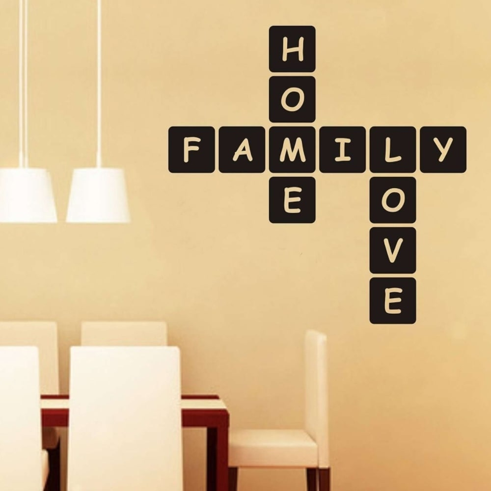 Shop Home Family Love Scrabble Wall Vinyl - On Sale - Free Shipping ...