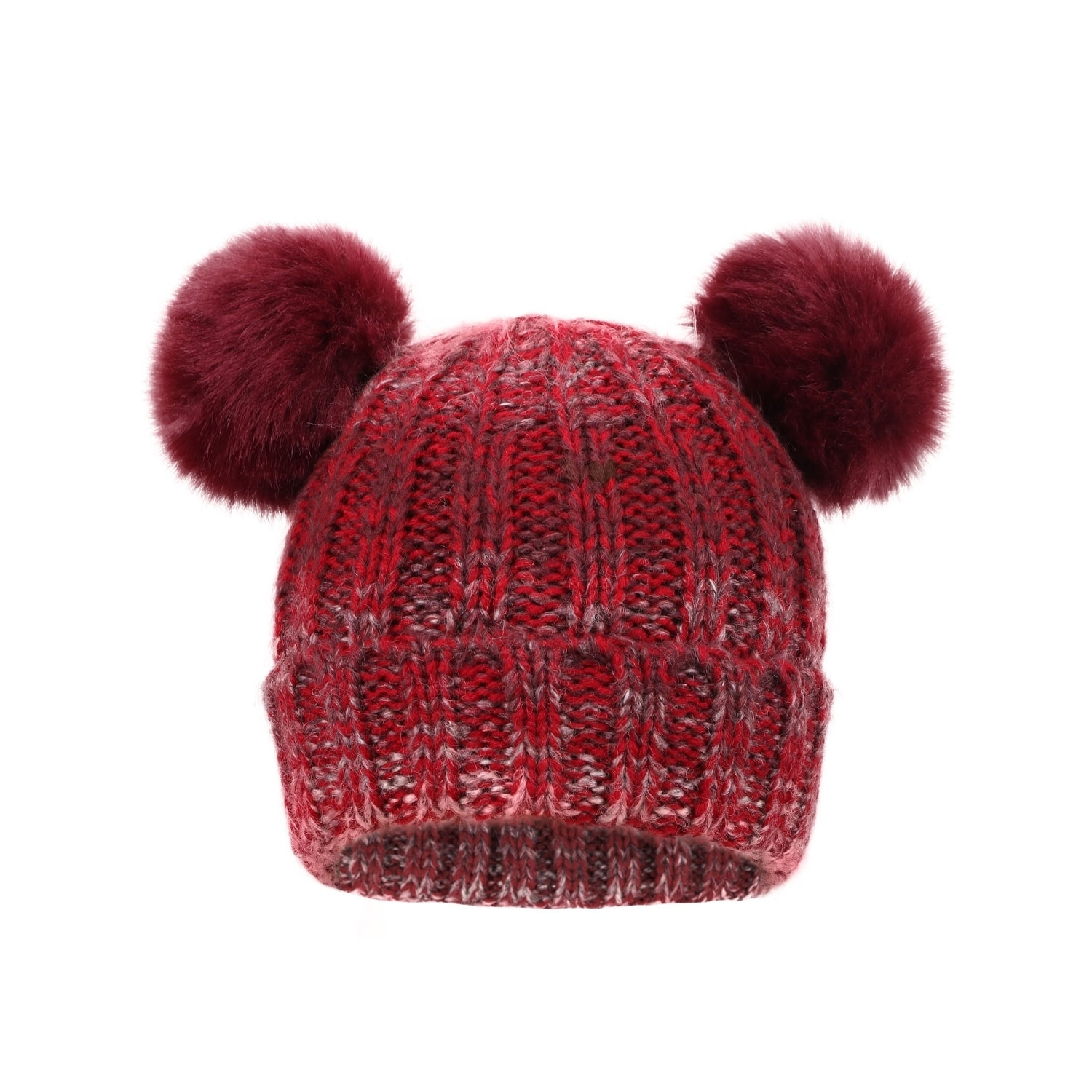 b240c2a11efb1b Shop Children's Cable Knit Ombre Beanie Pompom Ears - Free Shipping On Orders  Over $45 - Overstock - 17638873