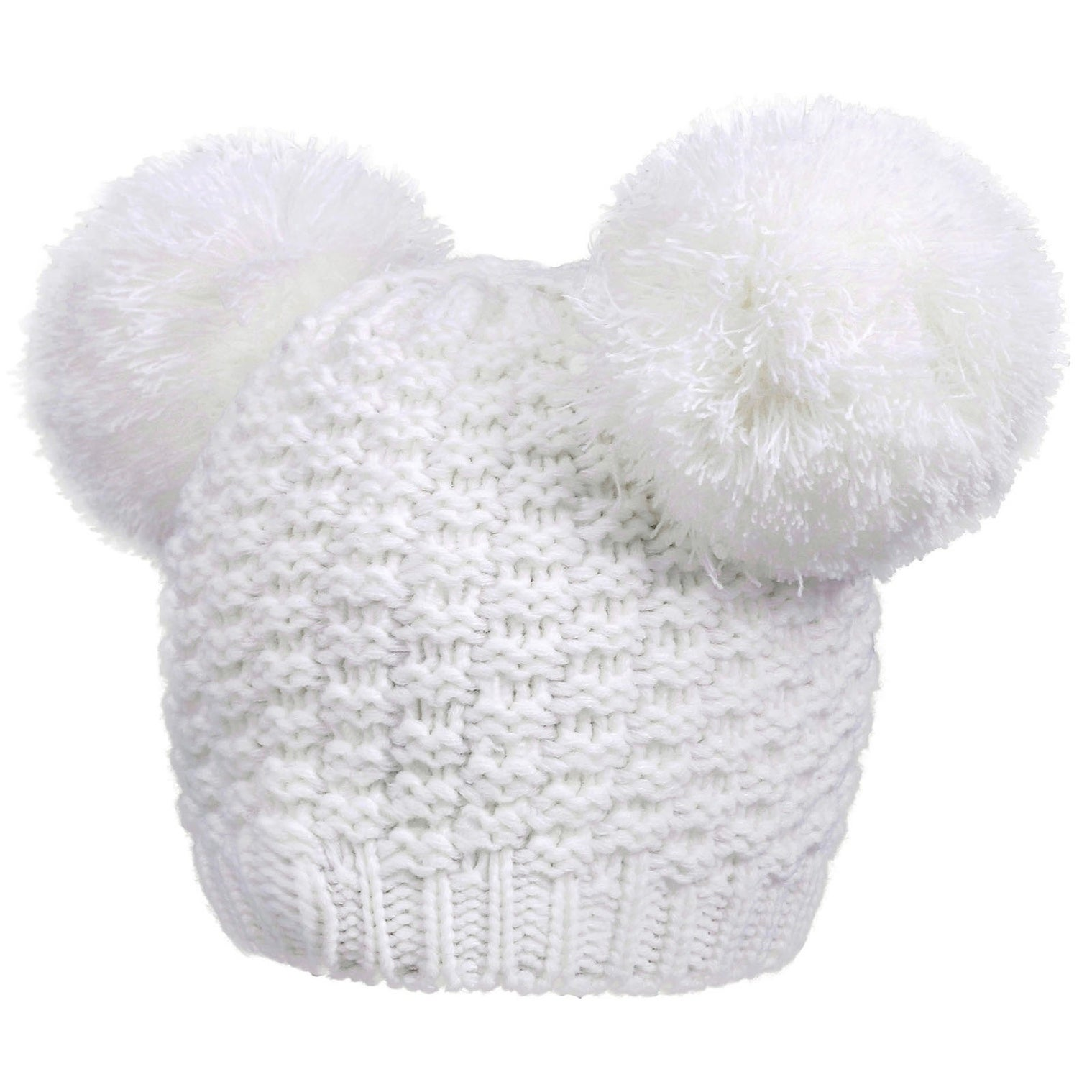 4cd1cf7a4d4 Shop Simplicity Women s Cute Knit Fuzzy Pompom Winter Beanie Hat - Free  Shipping On Orders Over  45 - Overstock - 17638924