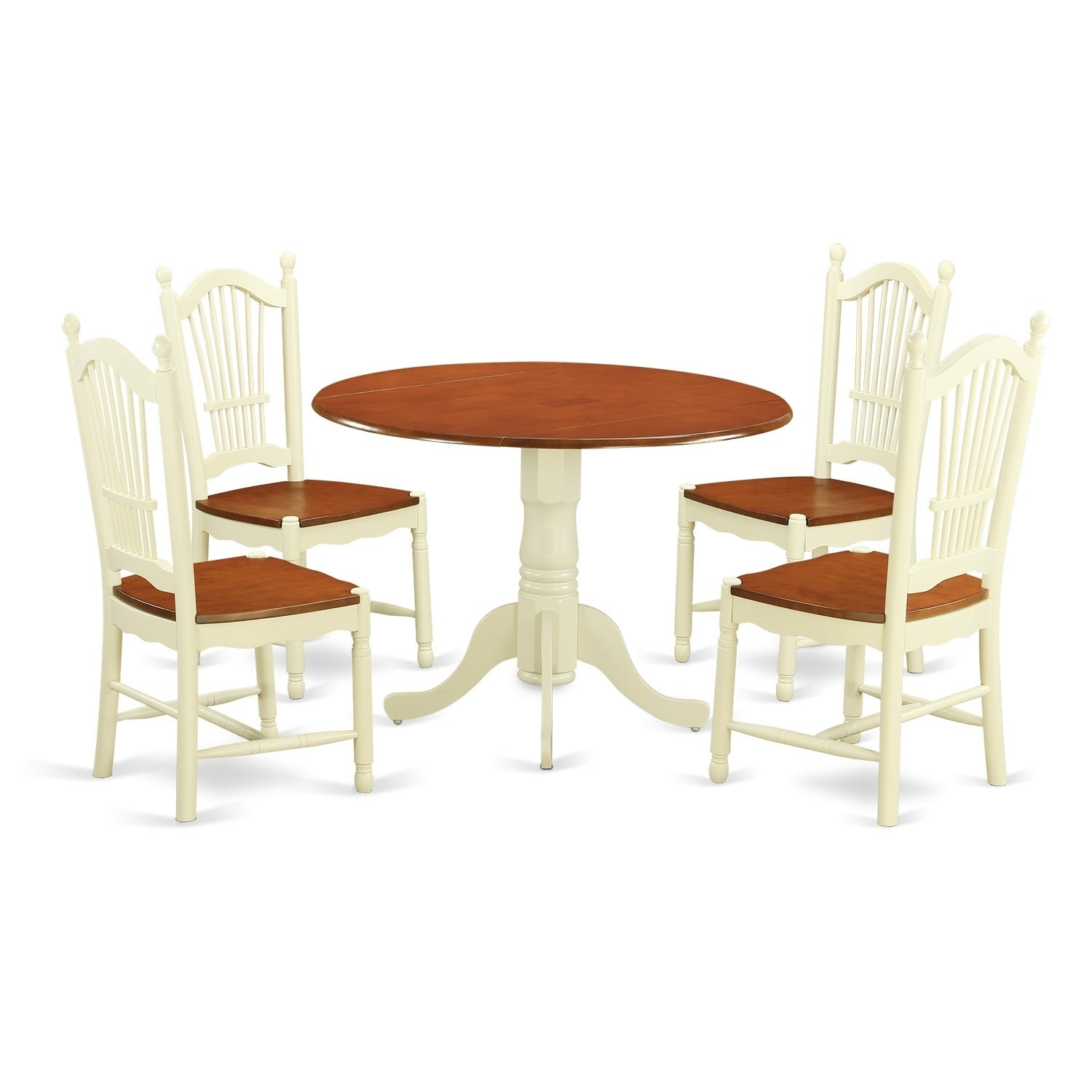 Shop dldo5 w 5 pc kitchen dining set kitchen dinette table and 4 chairs free shipping today overstock com 17652149