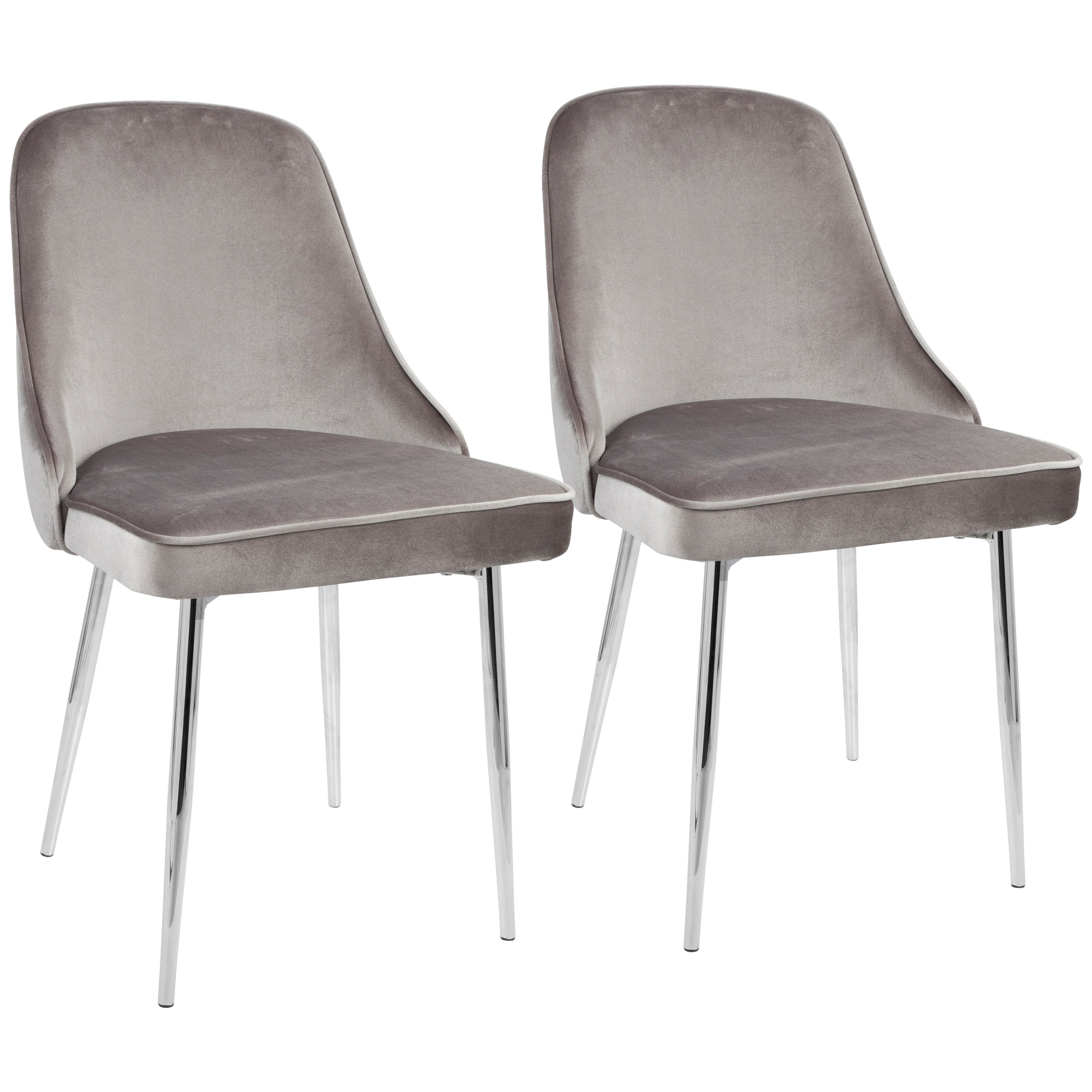 Lumisource Marcel Contemporary Dining Chair Set Of 2 On Free Shipping Today 17652284