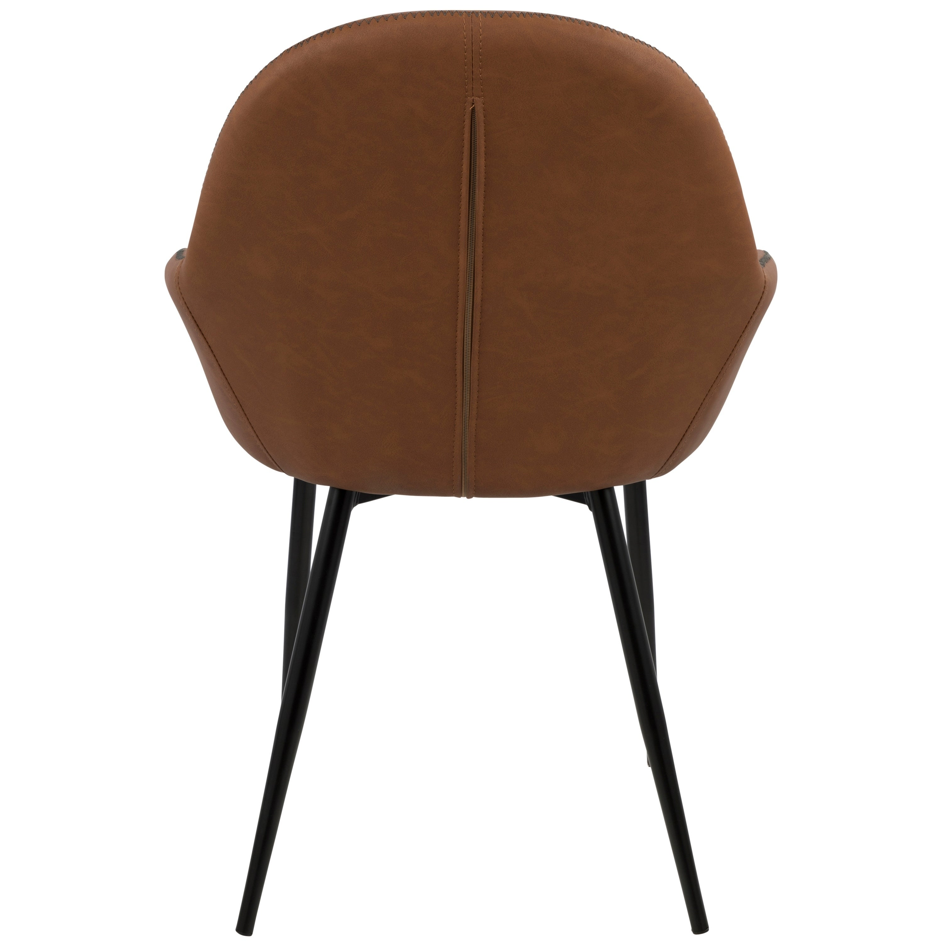 b75558859097 Shop Clubhouse Contemporary Dining Chair with Vintage Faux Leather (Set of  2) - On Sale - Free Shipping Today - Overstock - 17652287