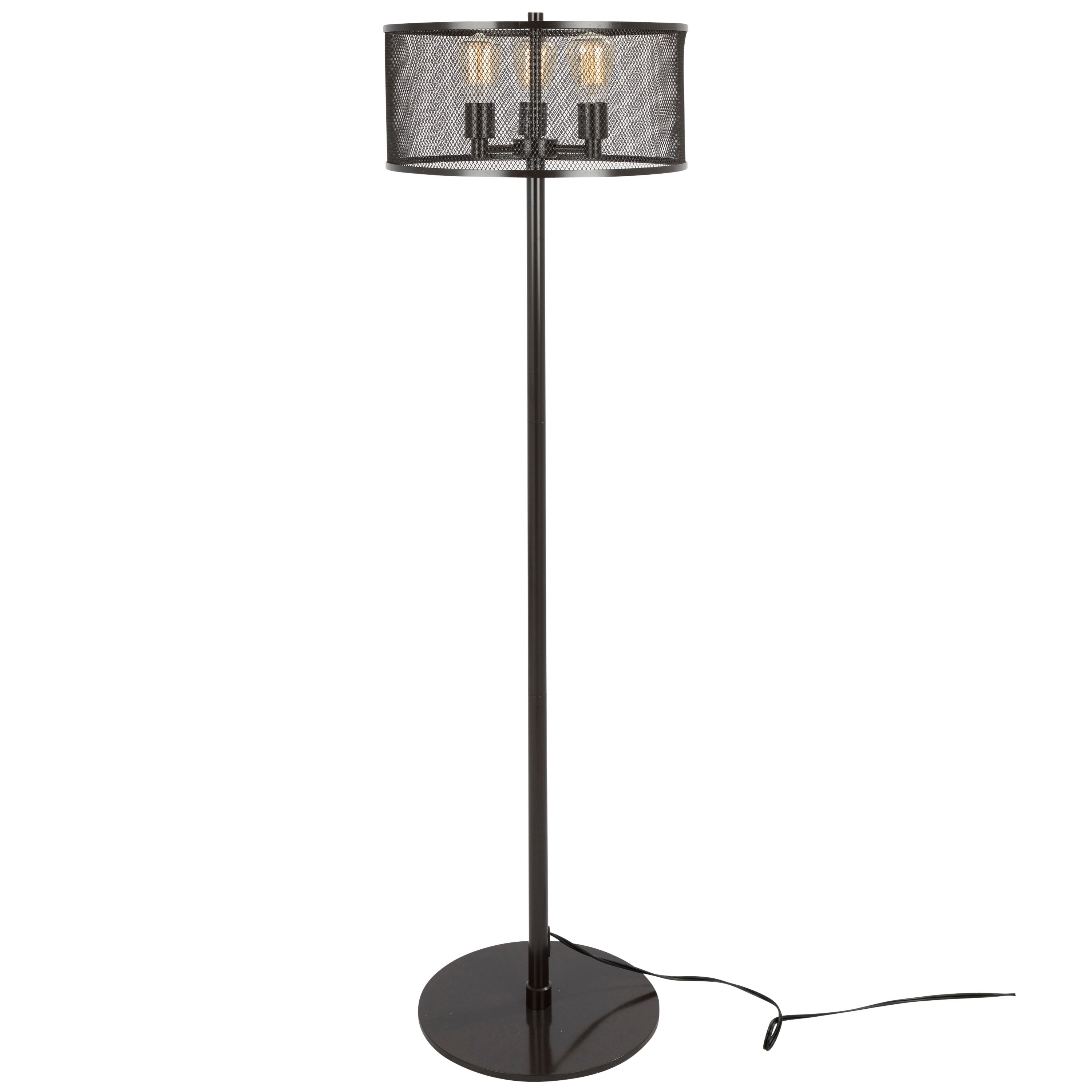 Indy Mesh Floor Lamp with Antique Finished Metal - Free Shipping ...