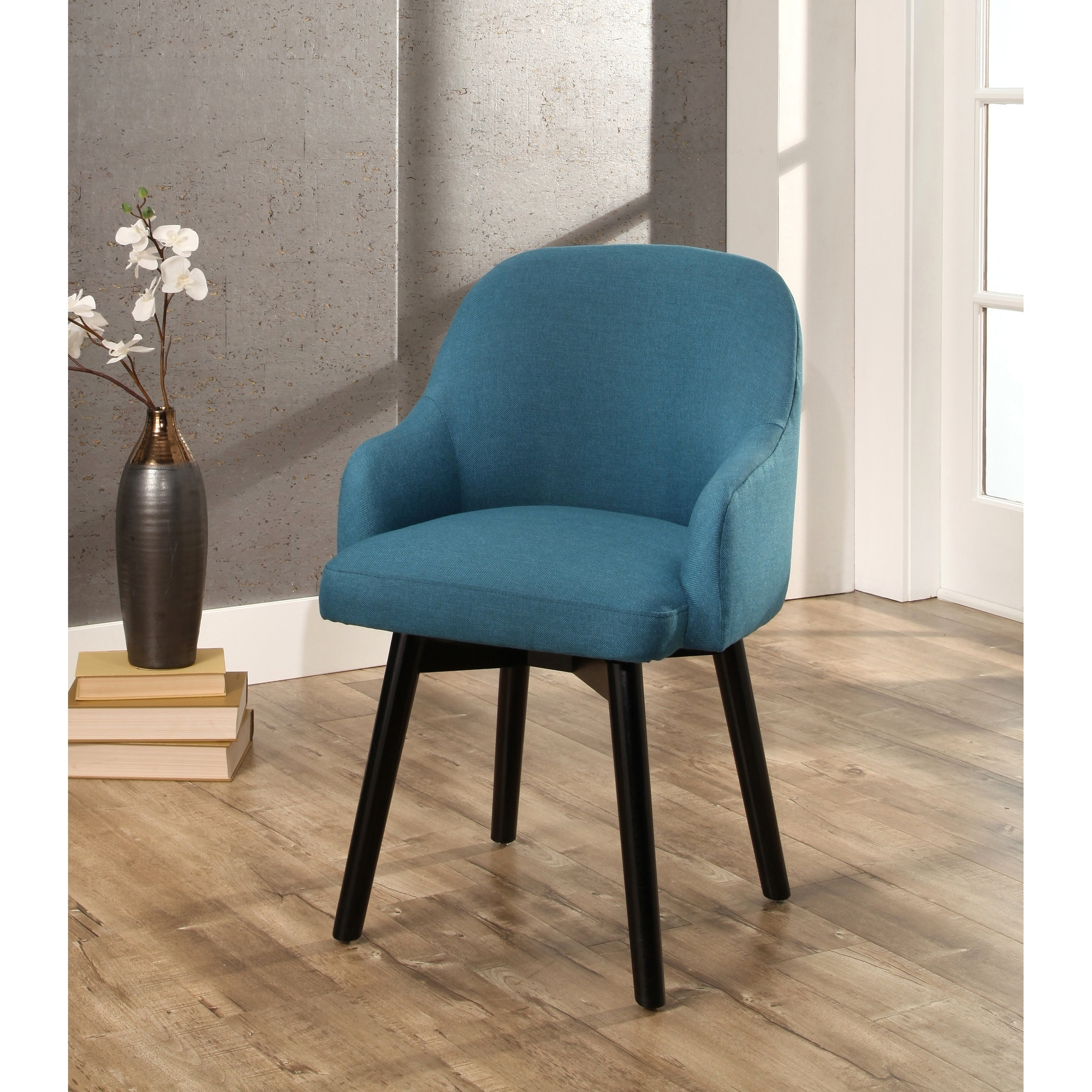 Shop Abbyson Abbott Upholstered Swivel Dining Chair - On Sale - Free ...