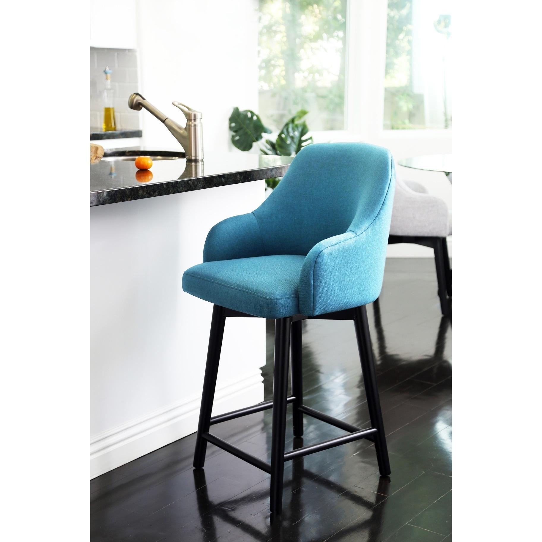 Shop Abbyson Abbott Upholstered 26-inch Counter Stool - On Sale ...