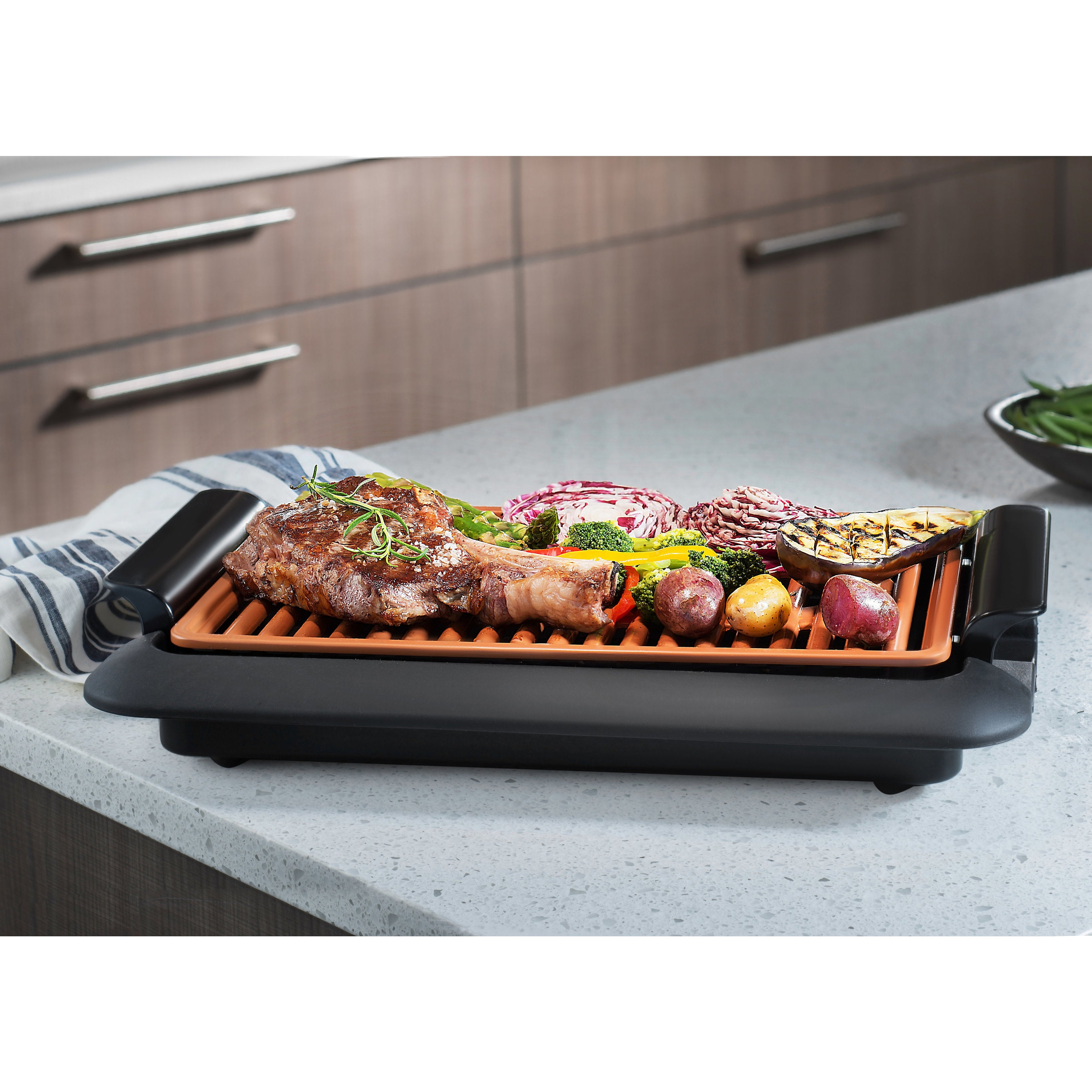 Gotham Steel Smokeless Electric Indoor Grill - Free Shipping Today ...