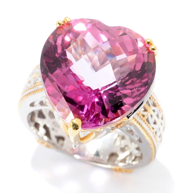 Michael Valitutti Palladium Silver Heart Shaped Martha Rocha Color ...