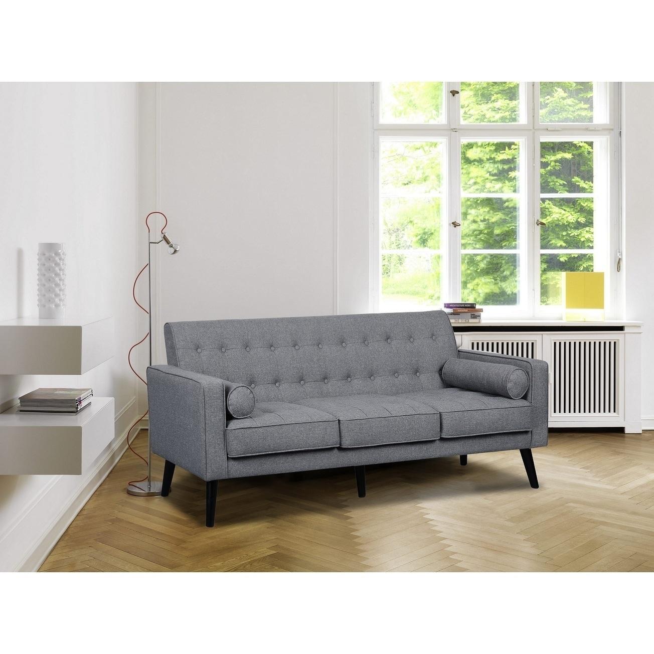 Donna Mid-Century Style Fabric Sofa