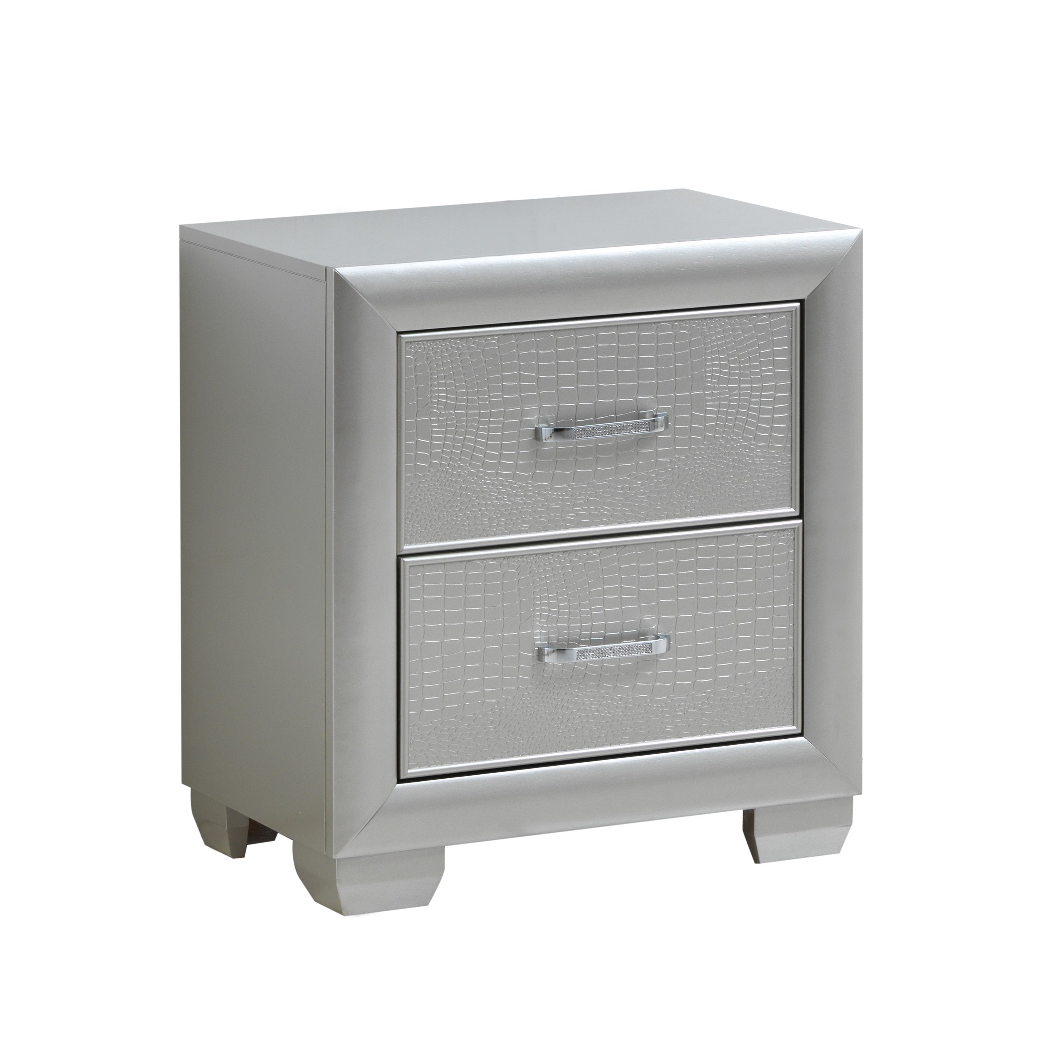 LYKE Home Caterina Two Drawer Nightstand - Free Shipping Today ...
