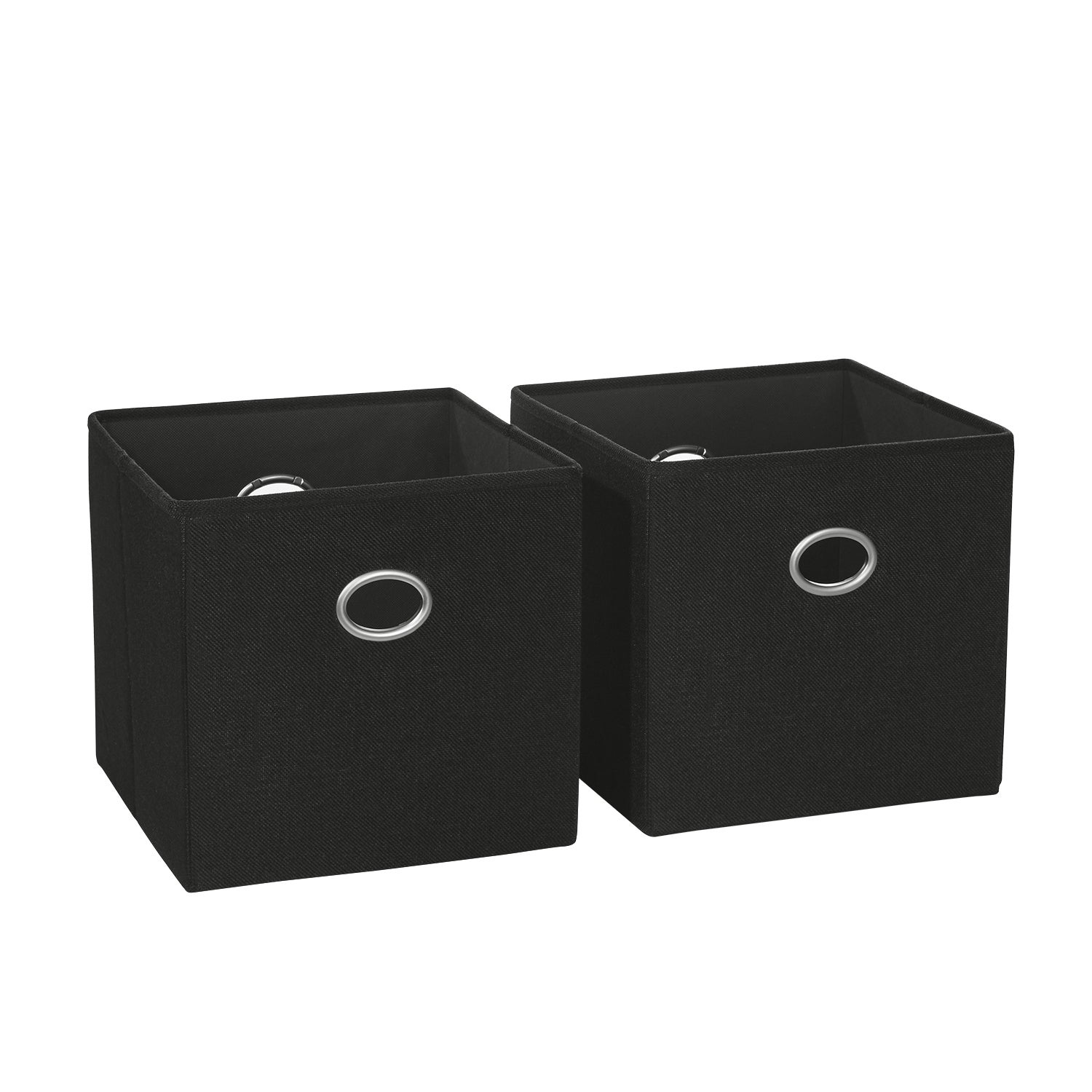Shop 2 Pc Folding Storage Bin Set With Metal Ring Handles   N/A   Free  Shipping On Orders Over $45   Overstock.com   17663143