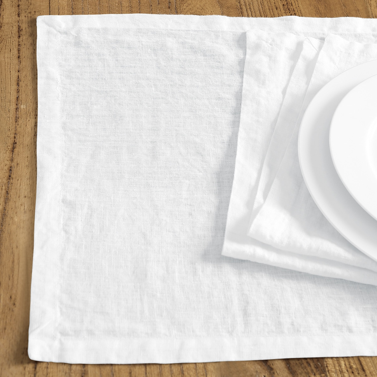 Washed Belgian Linen Placemats Set Of 4