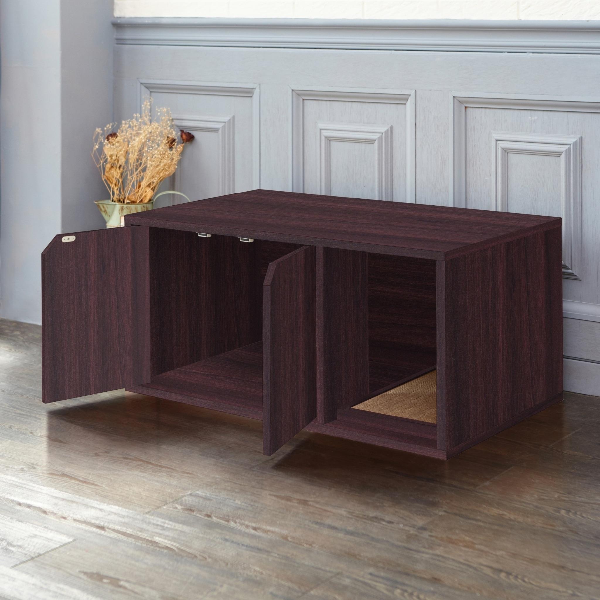 Eco Modern Cat Litter Box Furniture Espresso Lifetime Guarantee