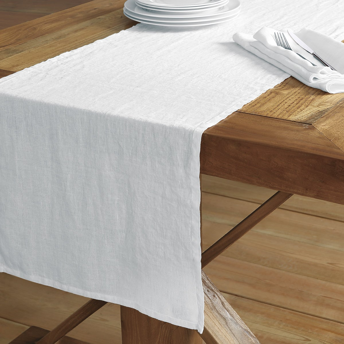 Washed Belgian Linen Table Runner   Free Shipping On Orders Over $45    Overstock   23873890