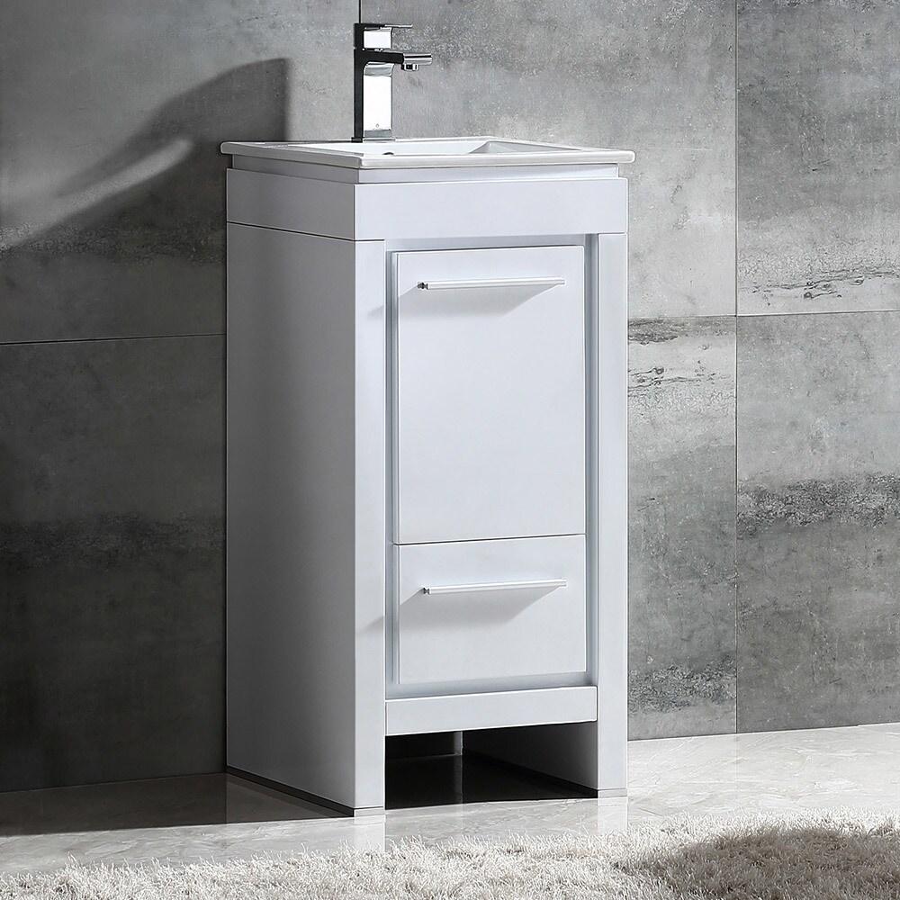 Fresca Allier 16-inch White Modern Bathroom Cabinet - Free Shipping ...