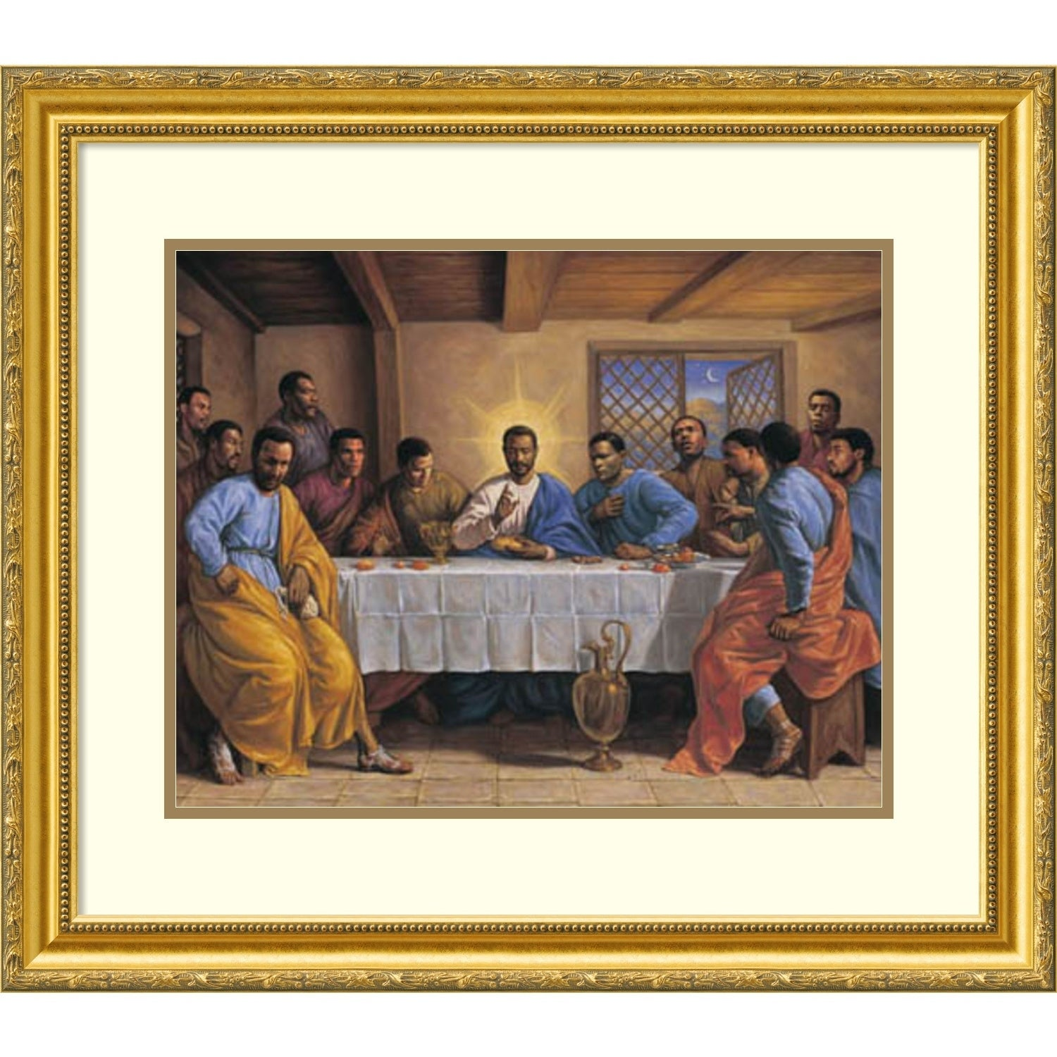Shop Framed Art Print \'Last Supper\' by Sarah Jenkins 30 x 25-inch ...