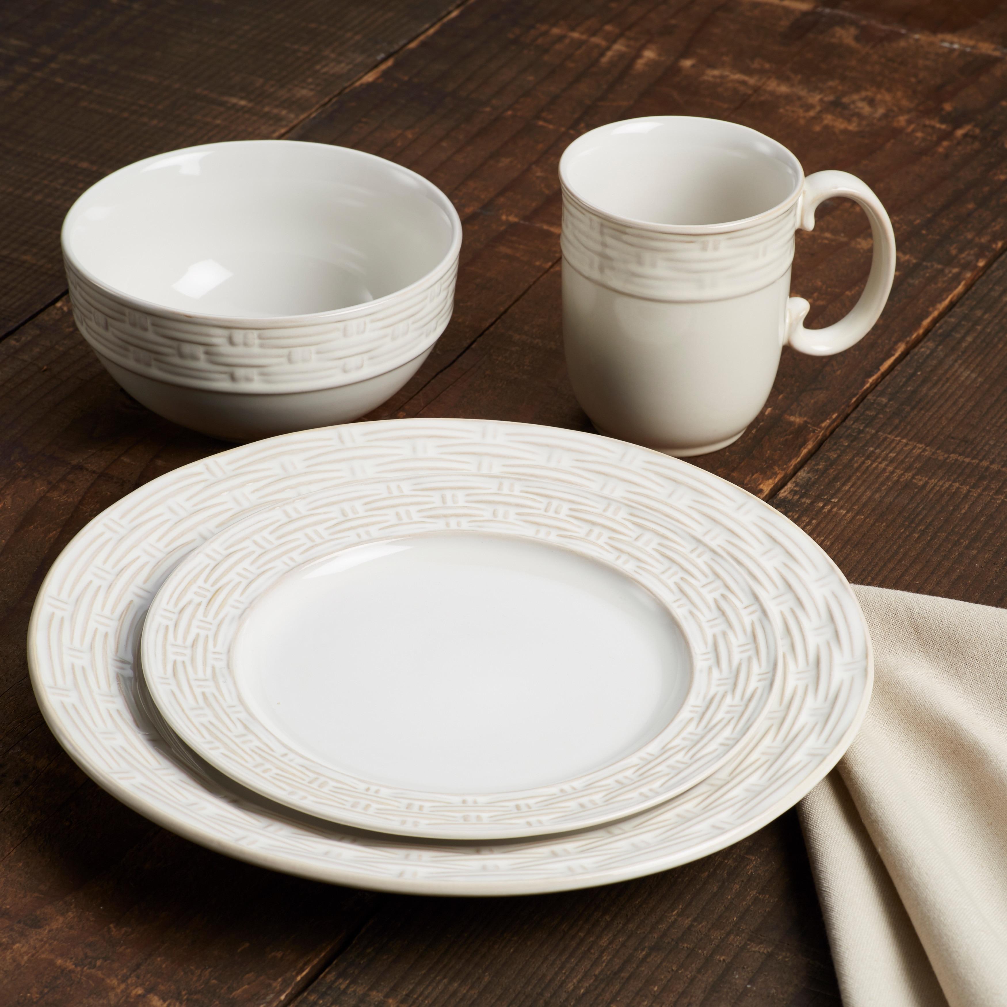 Shop Paula Deen Vineyard Basket Stoneware Dinnerware Set - On Sale - Free Shipping Today - Overstock.com - 17666591 & Shop Paula Deen Vineyard Basket Stoneware Dinnerware Set - On Sale ...