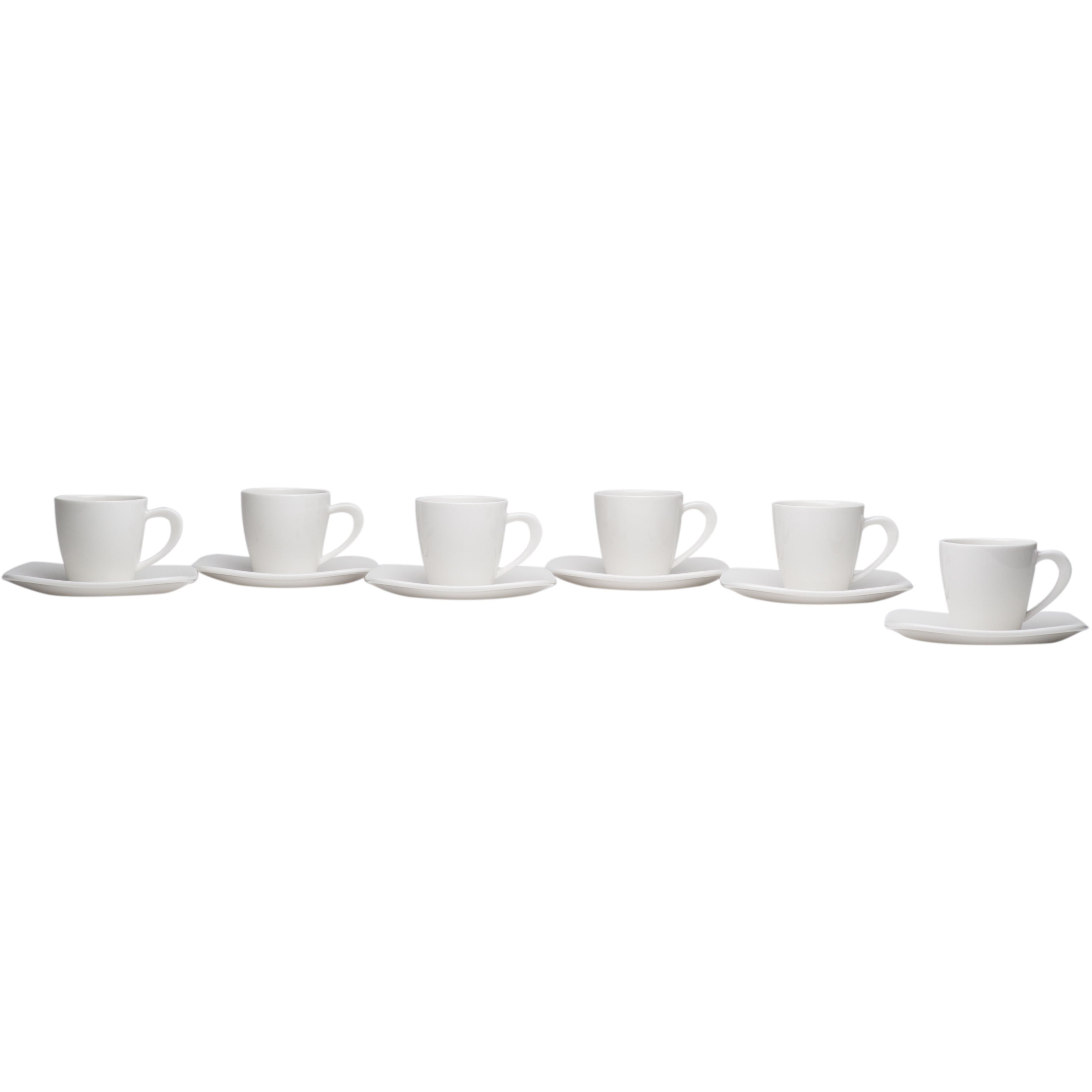 Hospitality White Espresso Cup Saucer Set Of 6 On Free Shipping Today 17666840