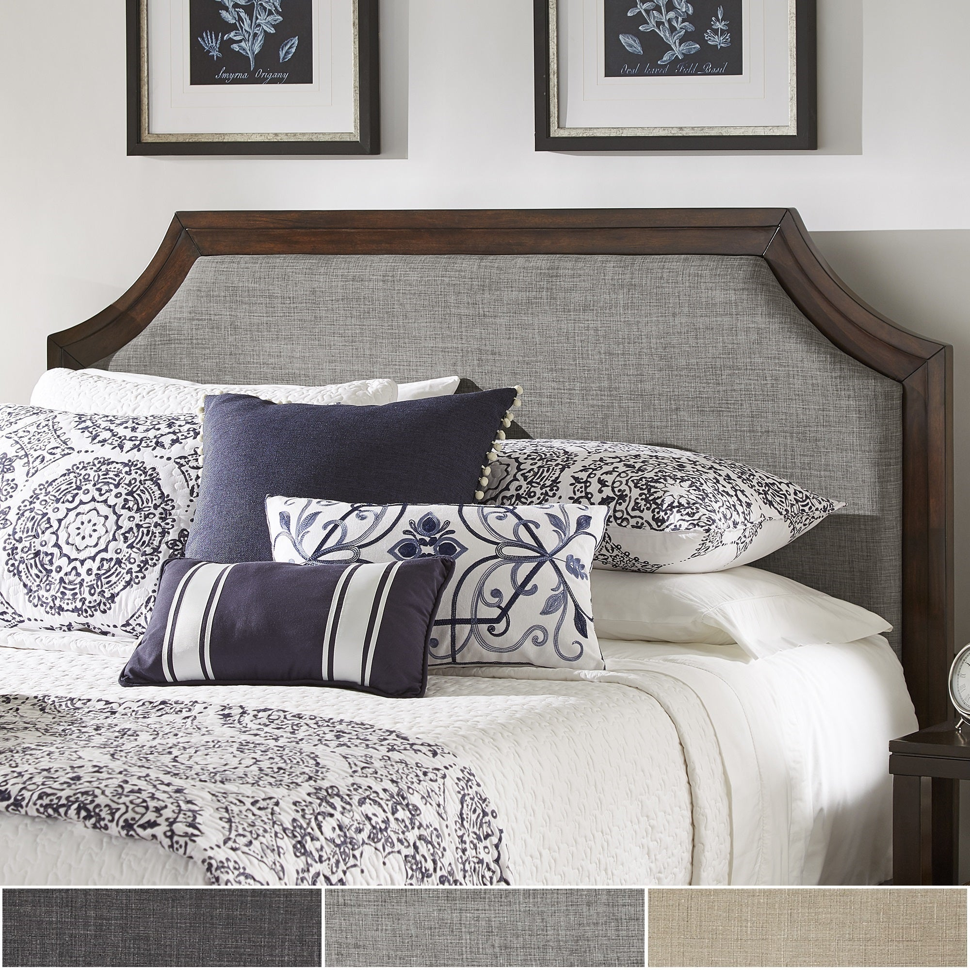 Darren Upholstered Linen Arched Bridge Top Headboard by iNSPIRE Q Classic -  Free Shipping Today - Overstock.com - 23876895