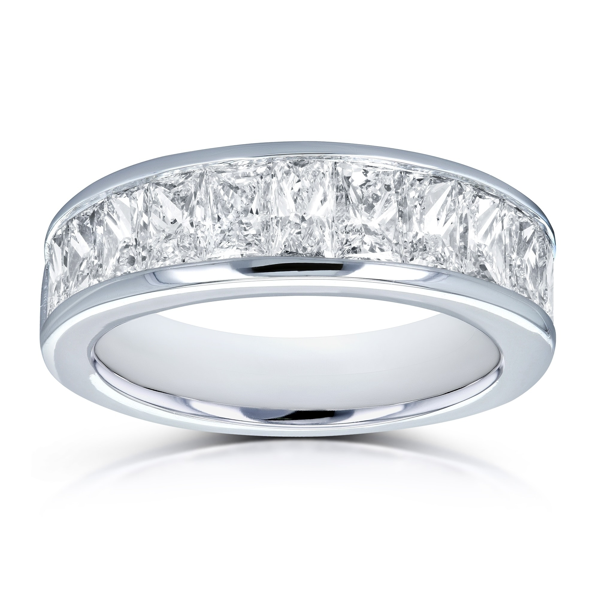modern diamonds bands band cut wedding anniversary product in baguette platinum
