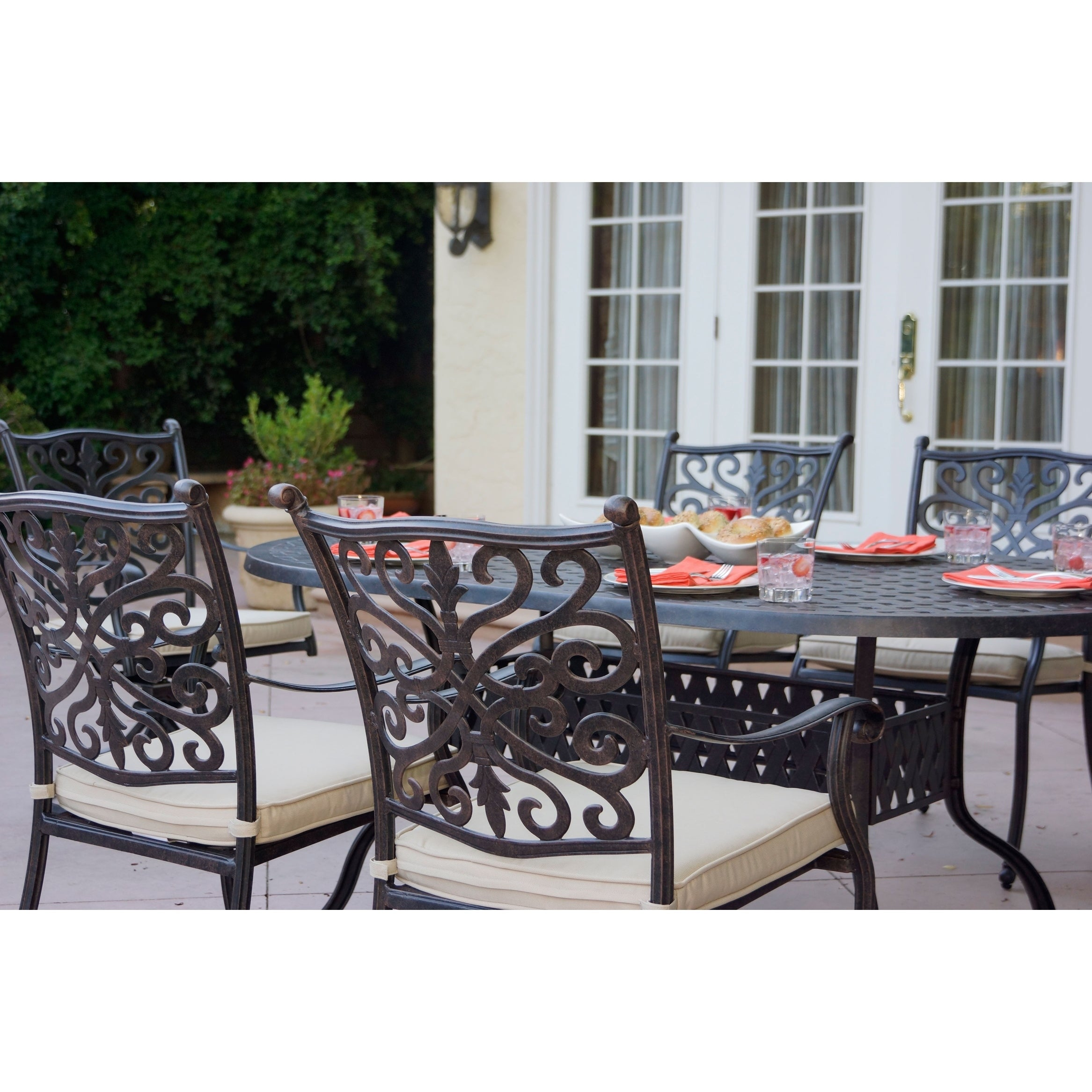 Shop Casablanca 7 Piece Dining Set,42 X 72 Inch Oval,Desert Bronze   On  Sale   Free Shipping Today   Overstock.com   17668805
