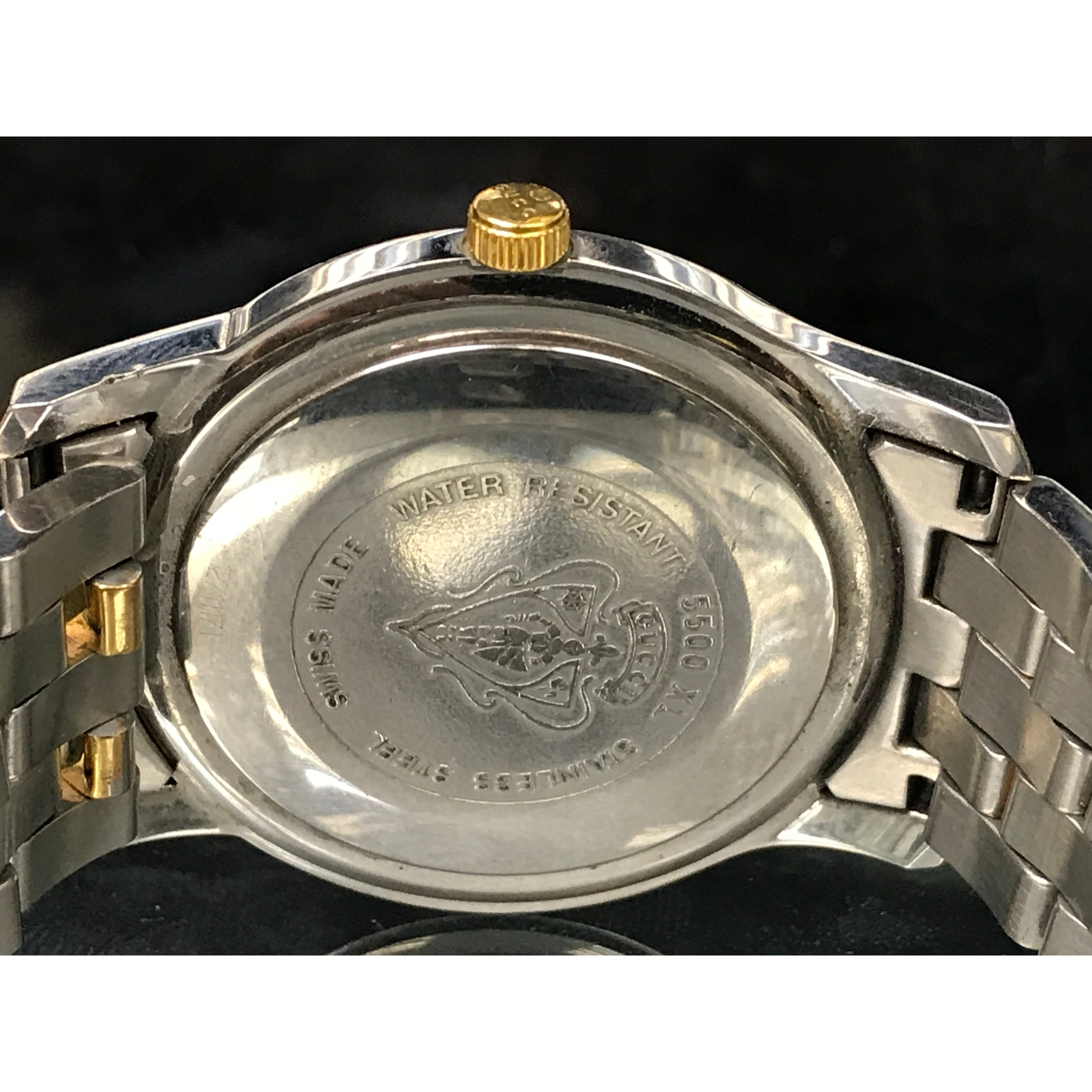 b44e7fbca7e Shop Gucci 5500 YA055216 Stainless Steel Gold Plated Quartz Men s Watch -  Free Shipping Today - Overstock - 17669128