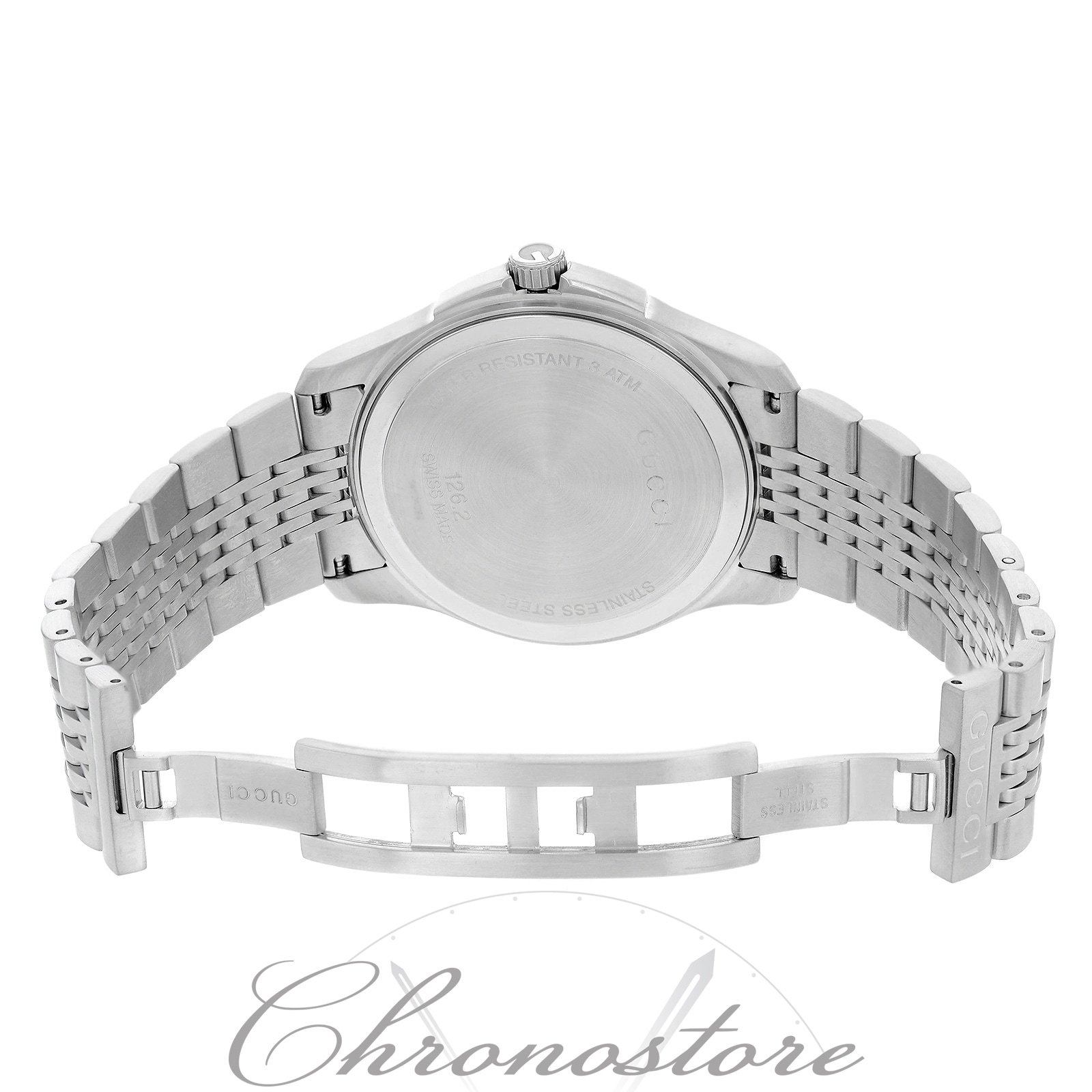 cd3bb7619 Shop Gucci 126 G - Timeless YA126201 Stainless Steel Quartz Men s Watch -  Free Shipping Today - Overstock - 17669142
