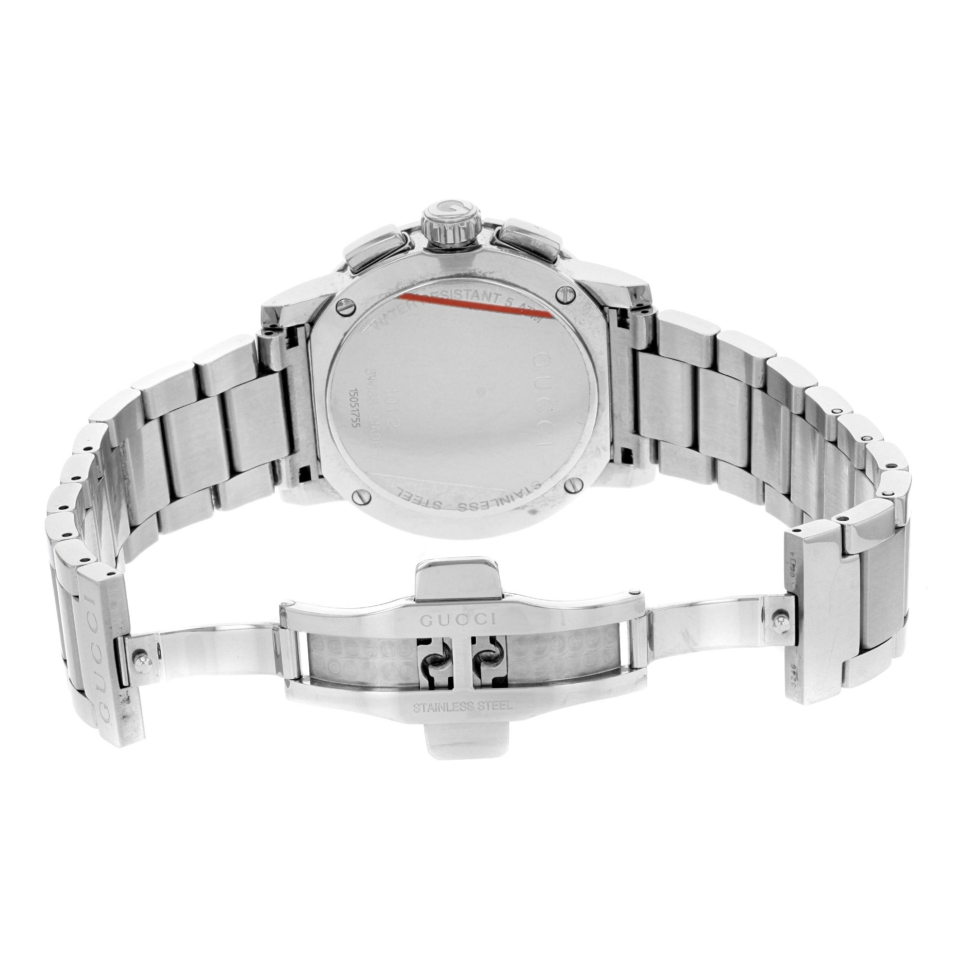 5e48c9895f7 Shop Gucci G-Chrono YA101201 Stainless Steel Quartz Men s Watch - Free  Shipping Today - Overstock - 17669160