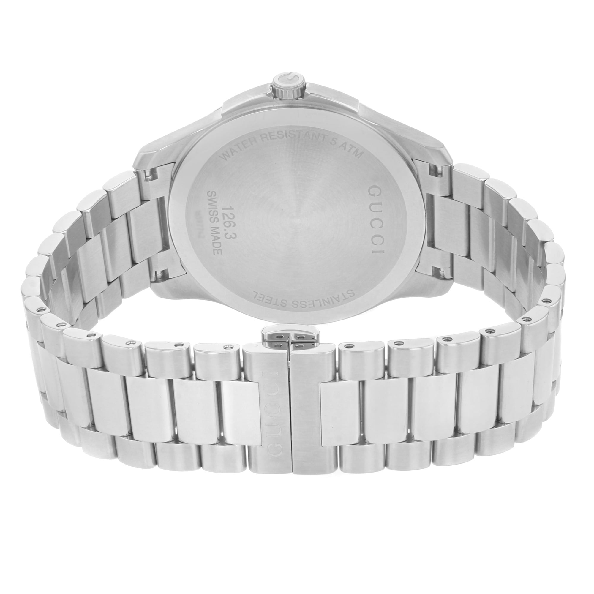 bfa52dca961 Shop Gucci G-Timeless 126.3 YA126310 Stainless Steel Quartz Men s Watch -  Free Shipping Today - Overstock - 17669162