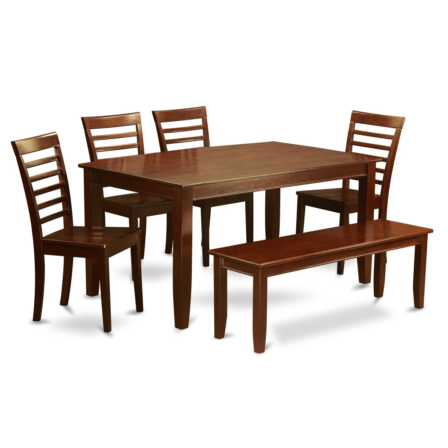 DUML6D MAH 6 Pc Dining Set  Dining Table With 4 Chairs Plus Bench   Free  Shipping Today   Overstock   23885022
