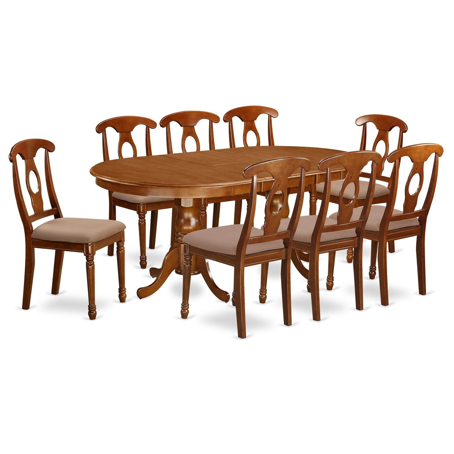 PLNA9-SBR 9 Pc formal Dining room set-Dining Table with 8 Chairs