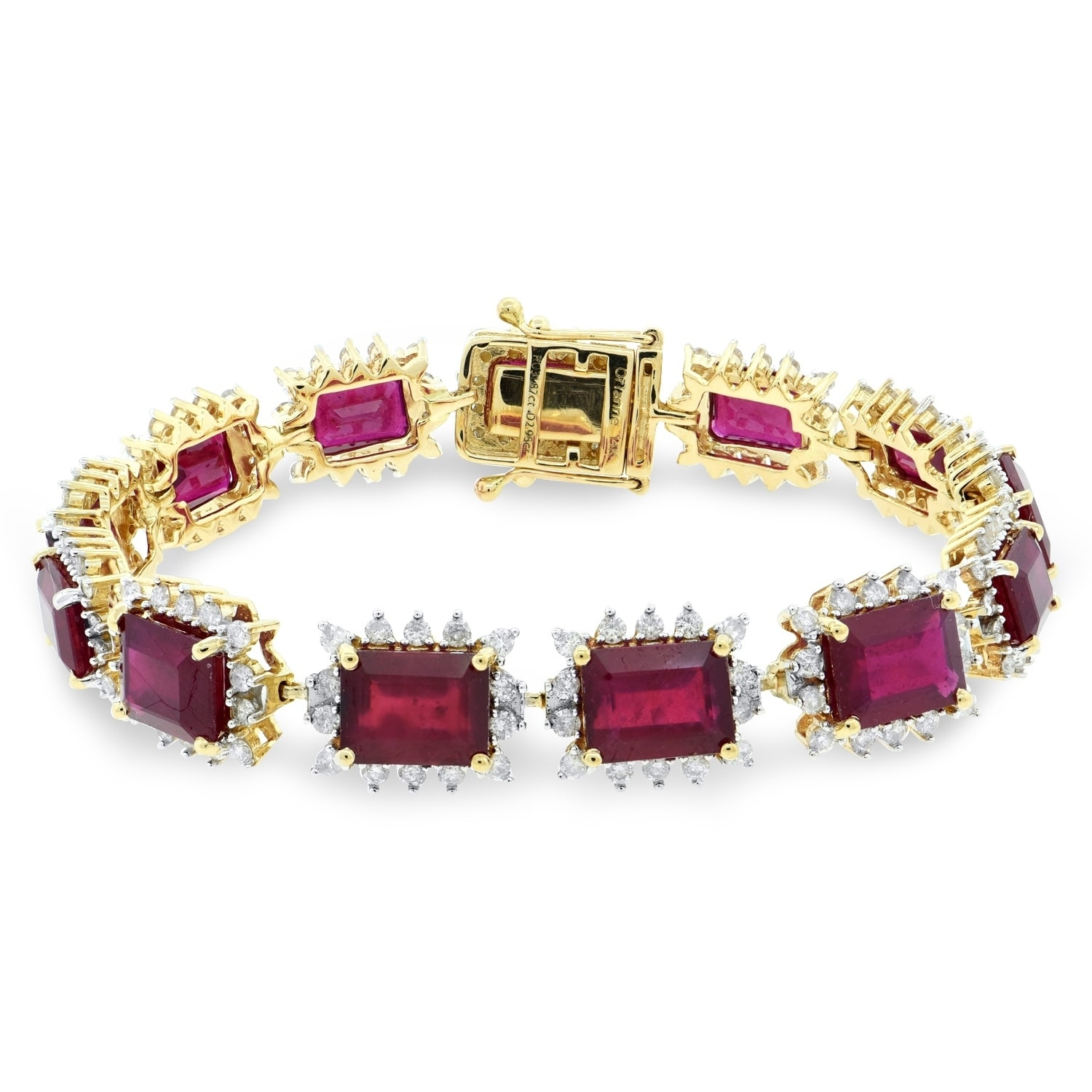 ruby pin yellow bracelet oscar diamond gold heyman