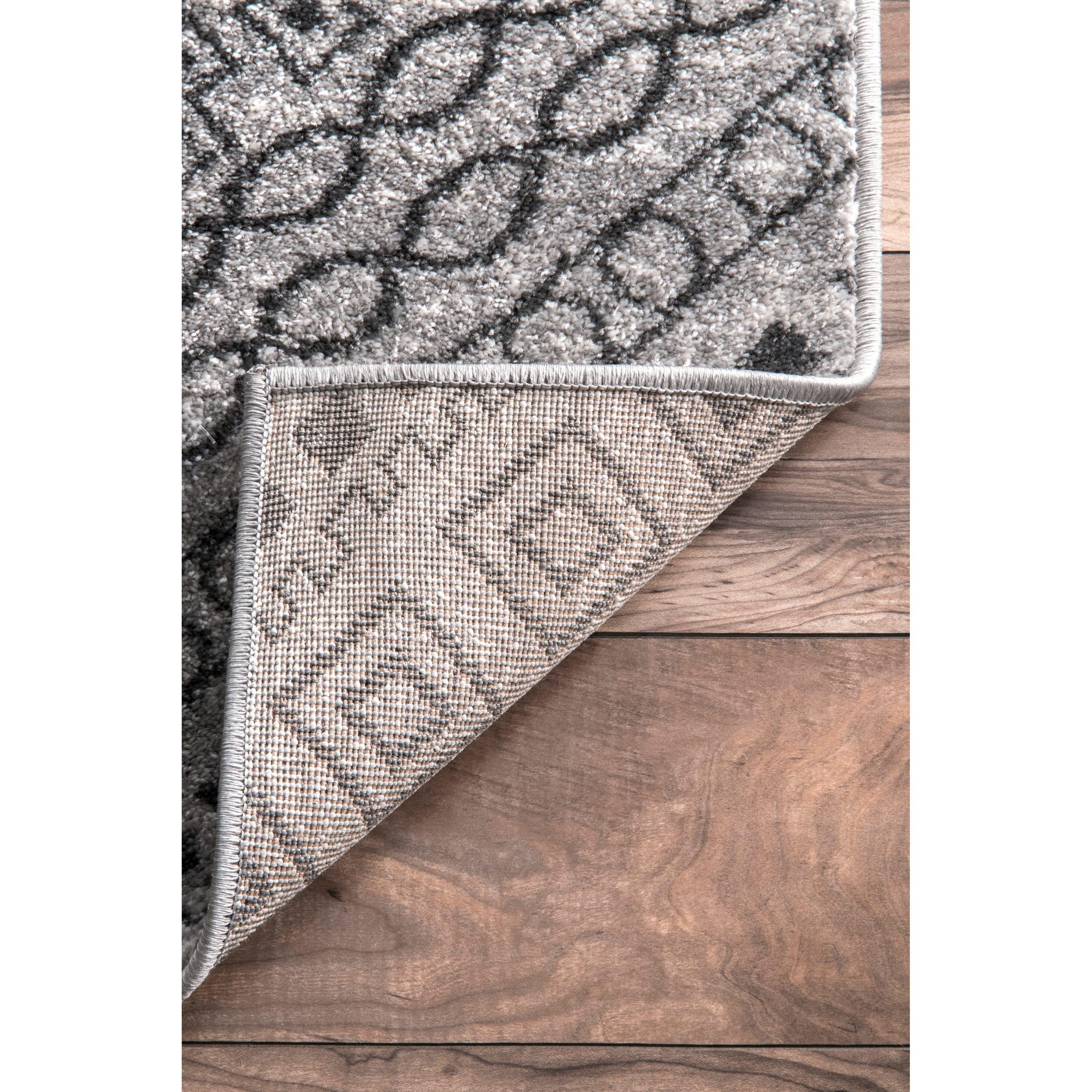 Shop nuLoom Transitional Dark Grey Abstract Diamond Mosaic Frames ...