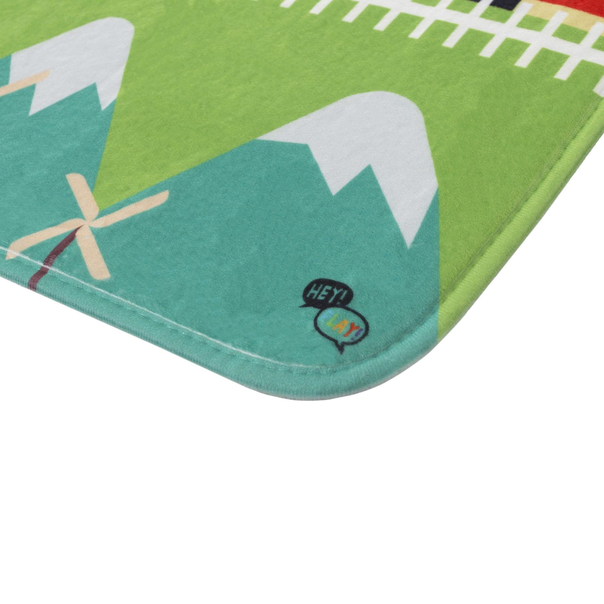Shop Hey! Play! Baby Play Mat for Kids, Microfiber Flannel Fleece ...