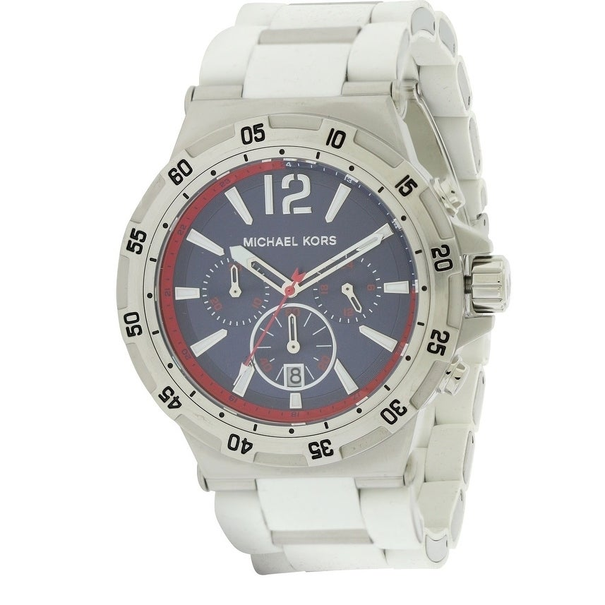 09d6b1b56f42 Shop Michael Kors Silicone Wrapped Chronograph male Watch MK8297 - Free  Shipping Today - Overstock - 17698300
