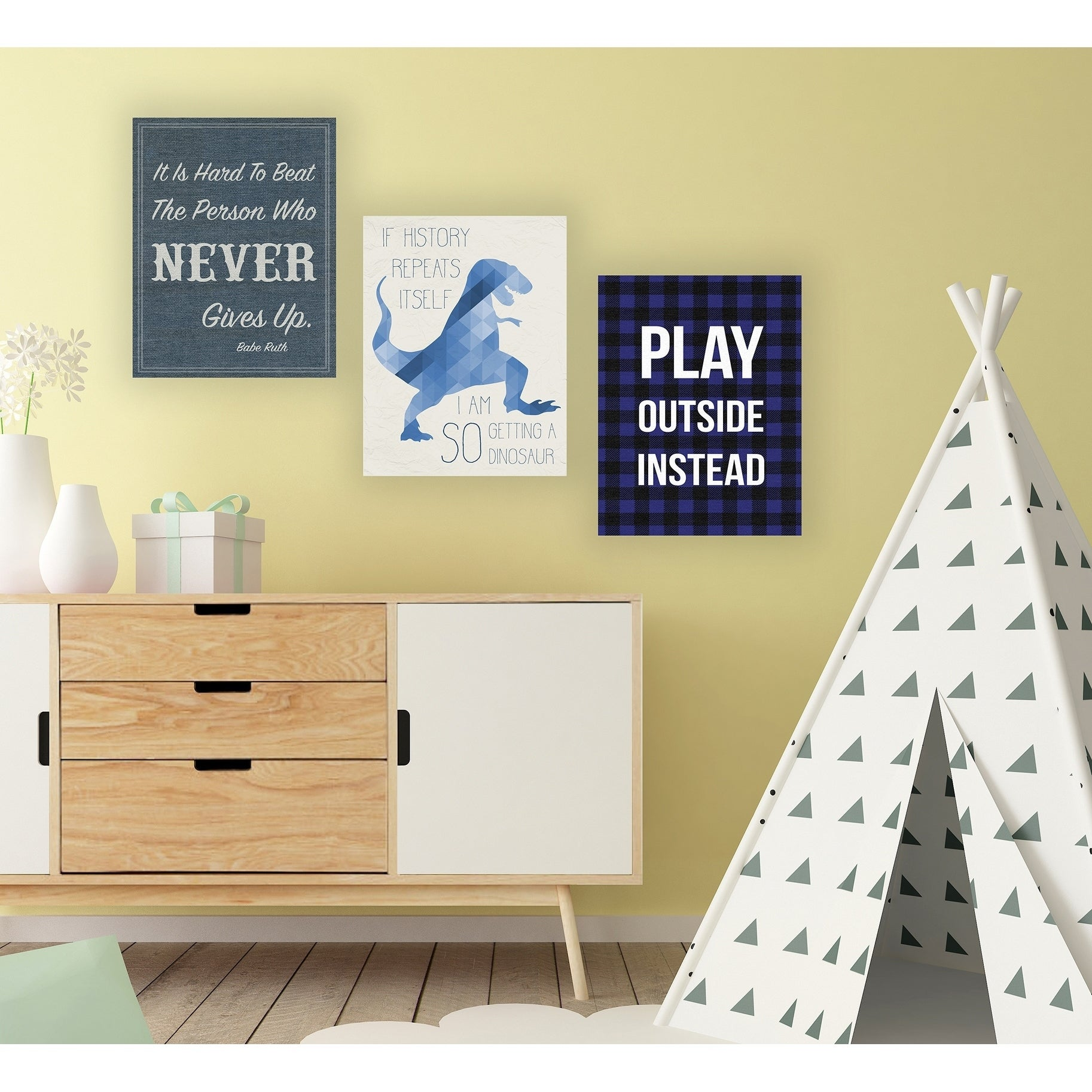 Stupell Industries Play Outside Instead Canvas Wall Art - Free ...